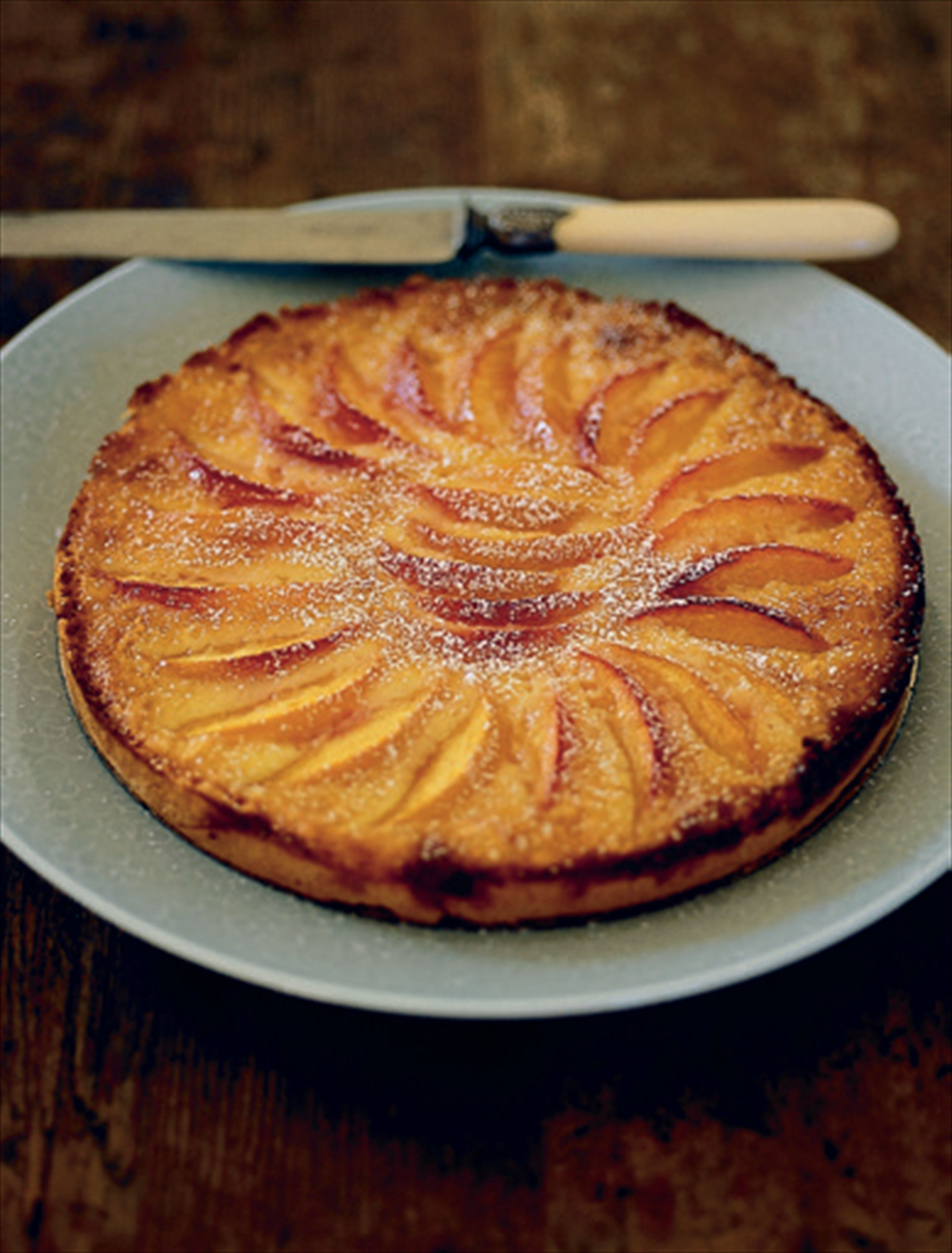 Pitinga's creamy peach pie