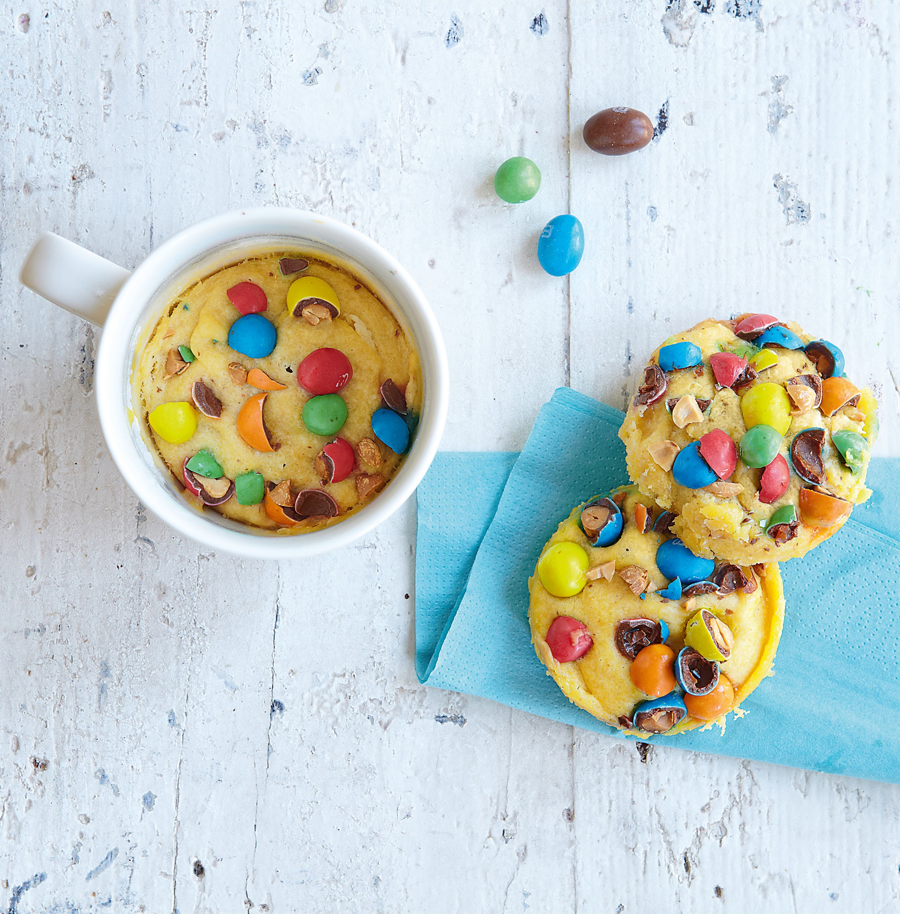 Mug cookie with M&M's®