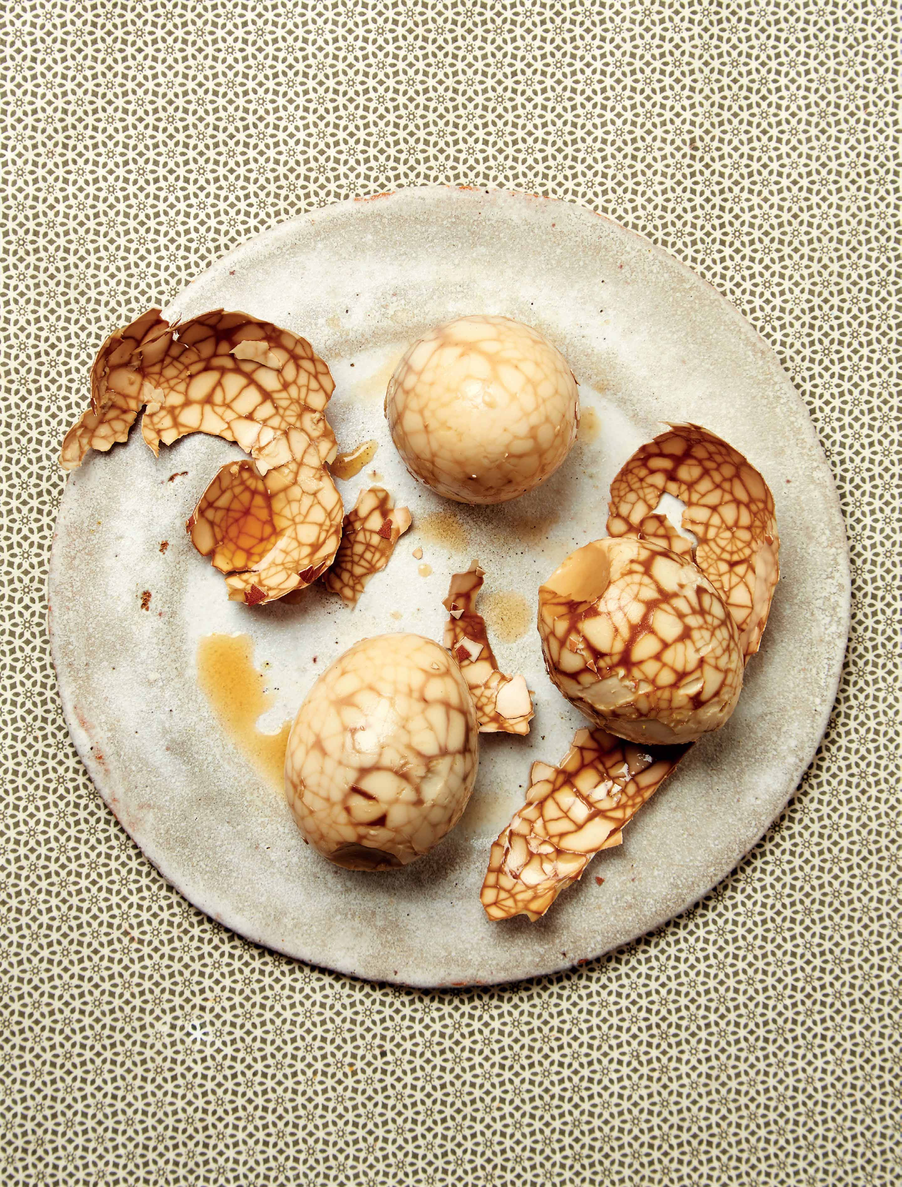 Chinese marbled tea eggs