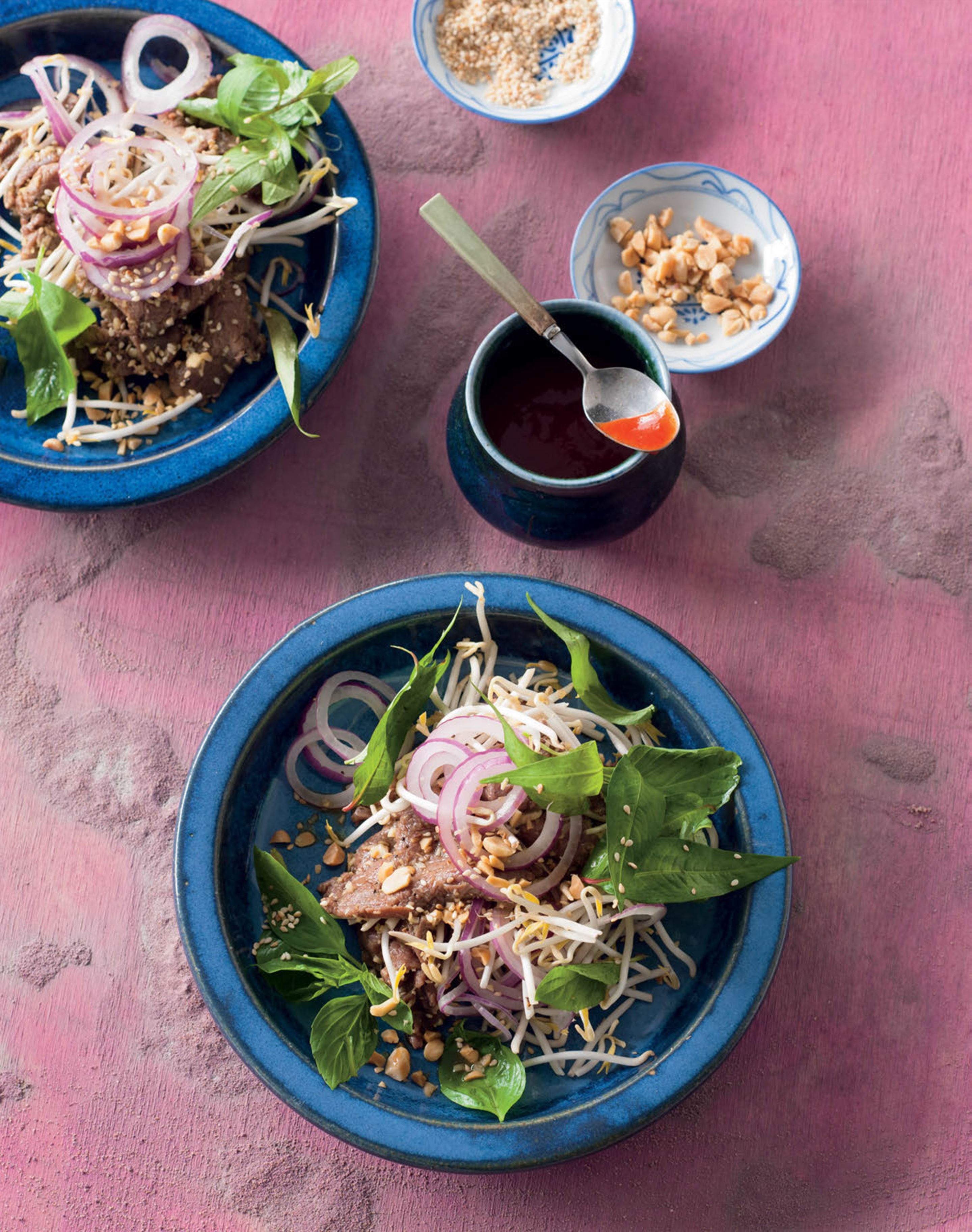 Lime-marinated beef salad