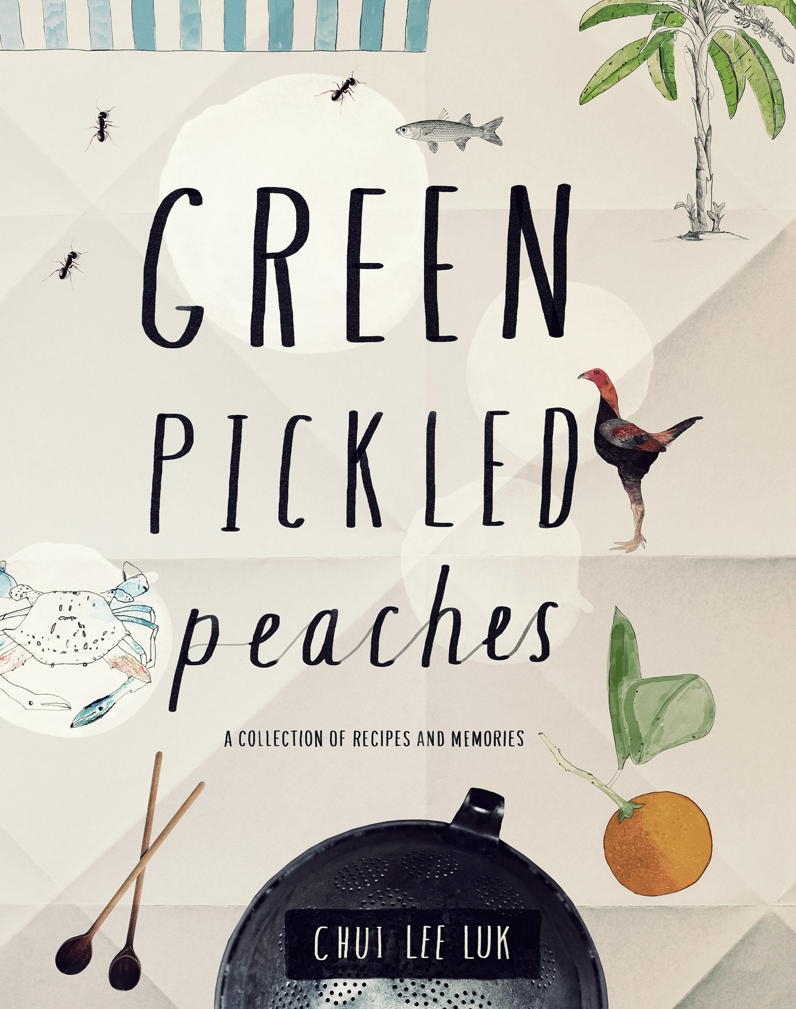 Green pickled peaches