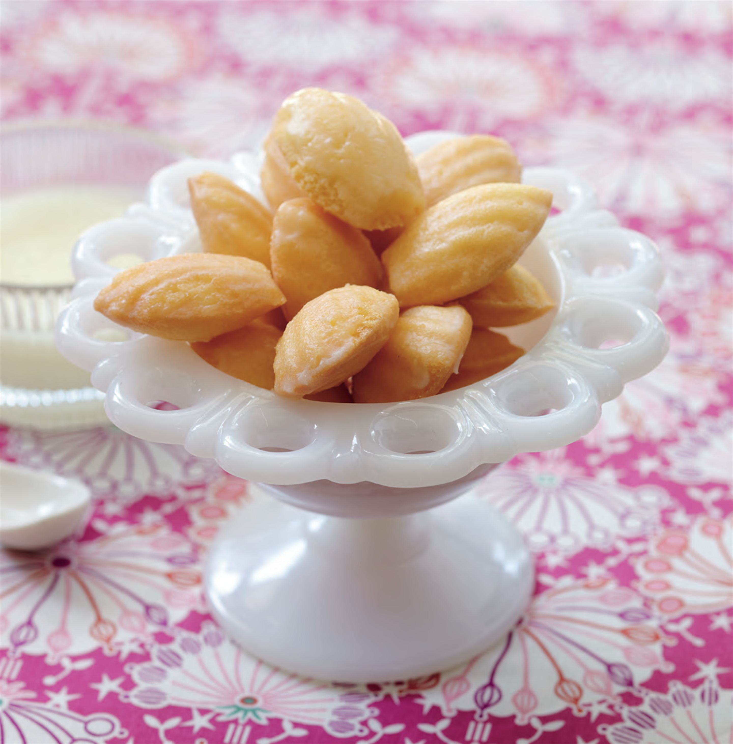 Lemon madeleines with limoncello glaze