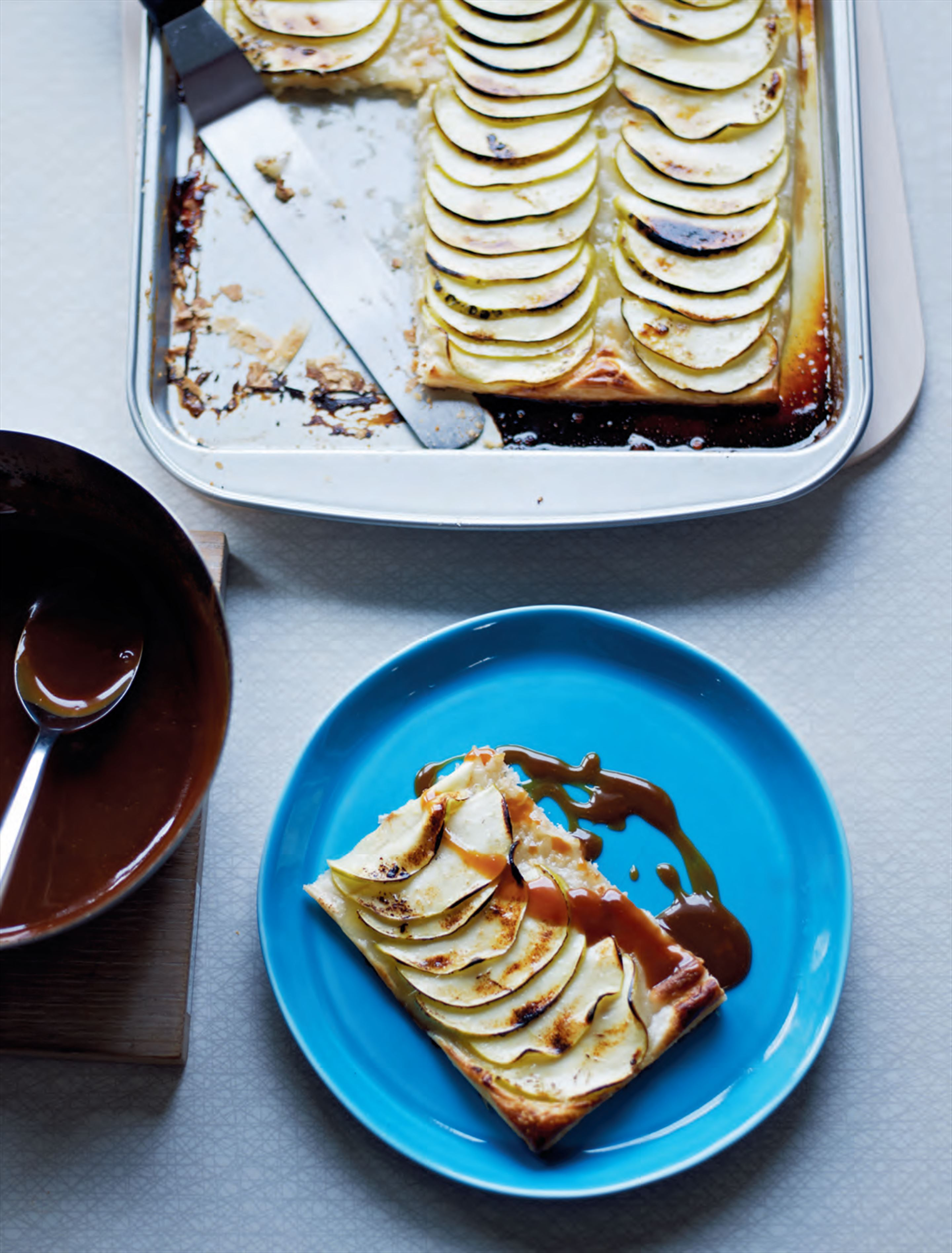 Apple & marzipan tart