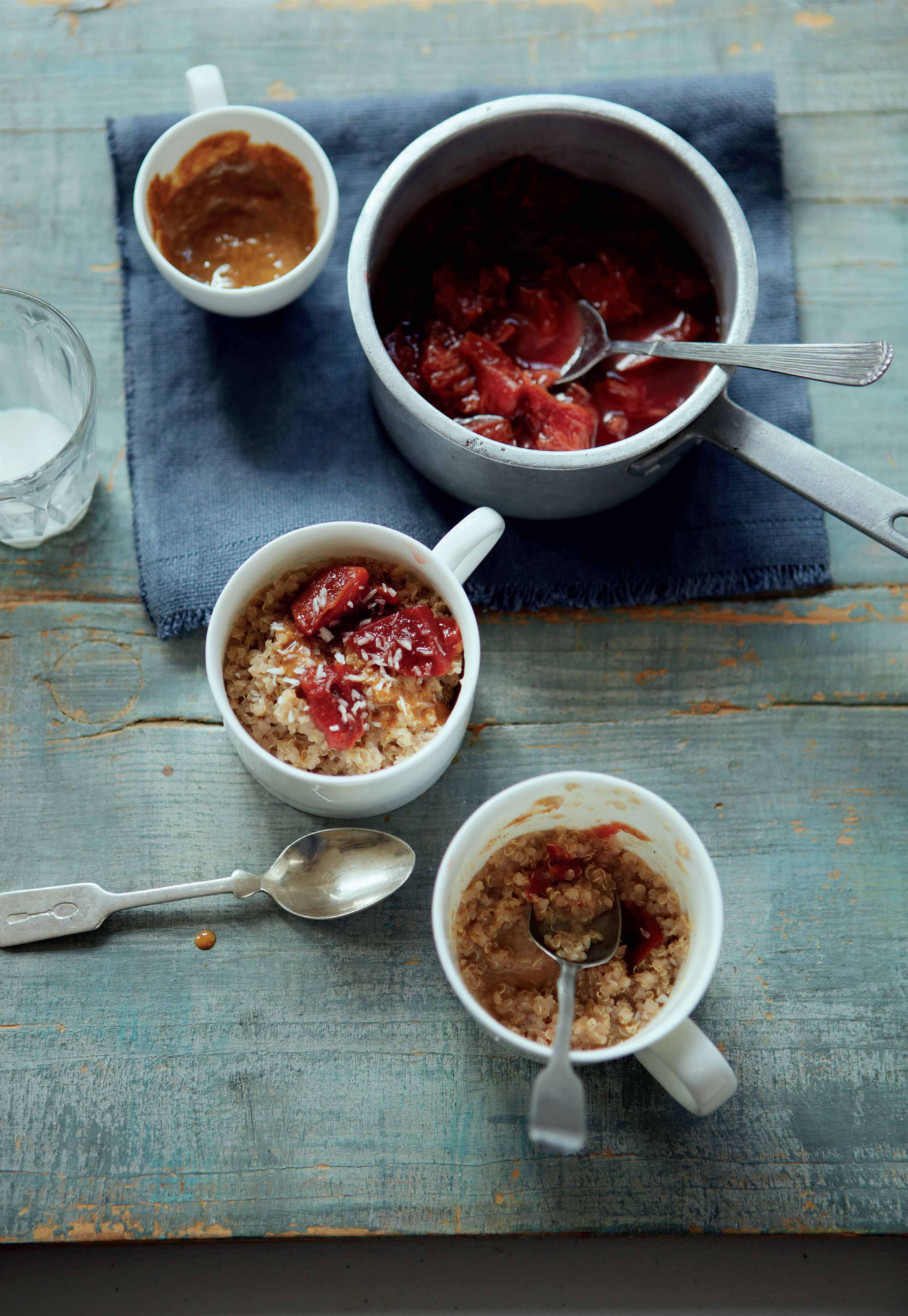 Coconut and Almond Quinoa with Stewed Plums