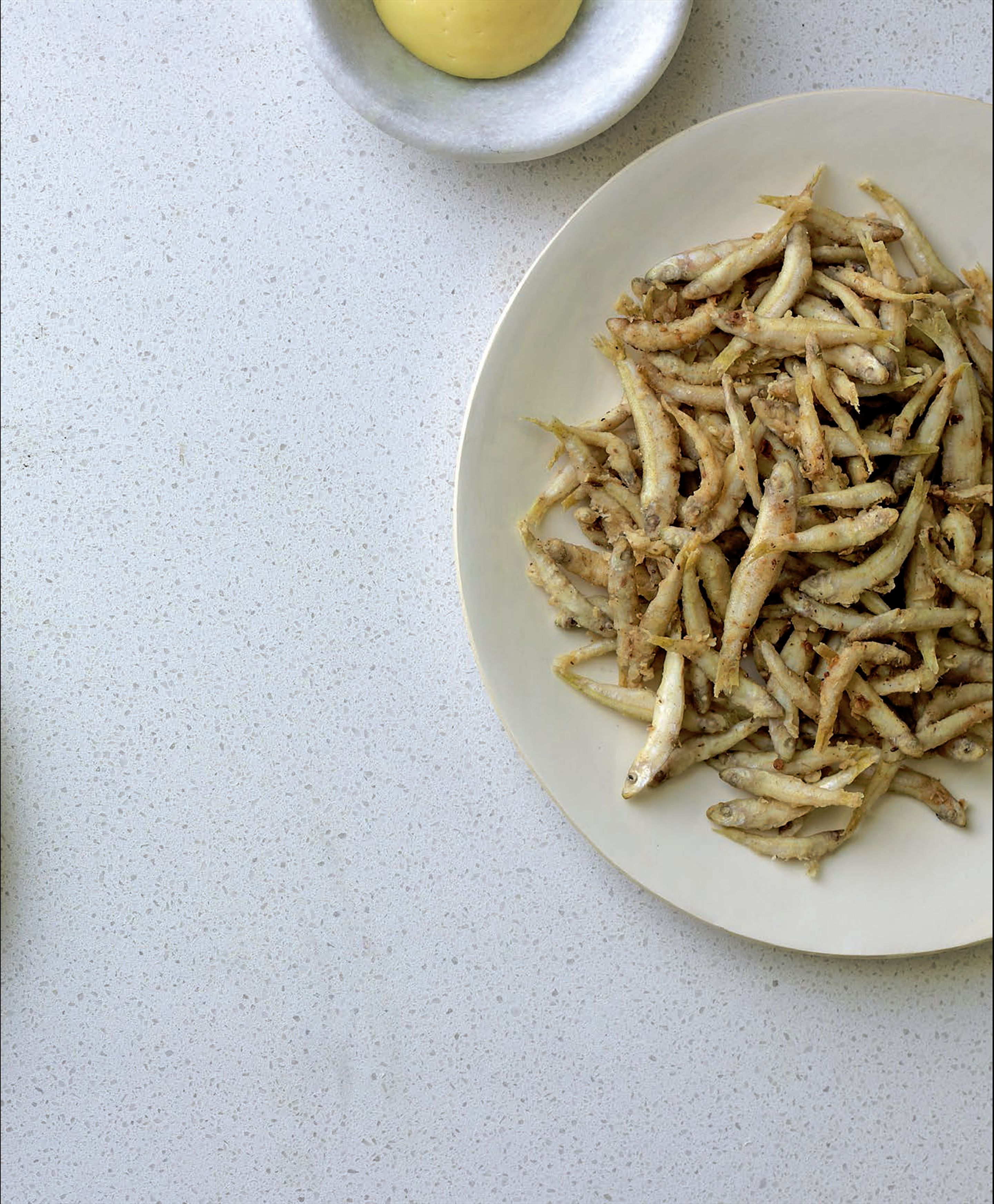 Cumin-fried whitebait