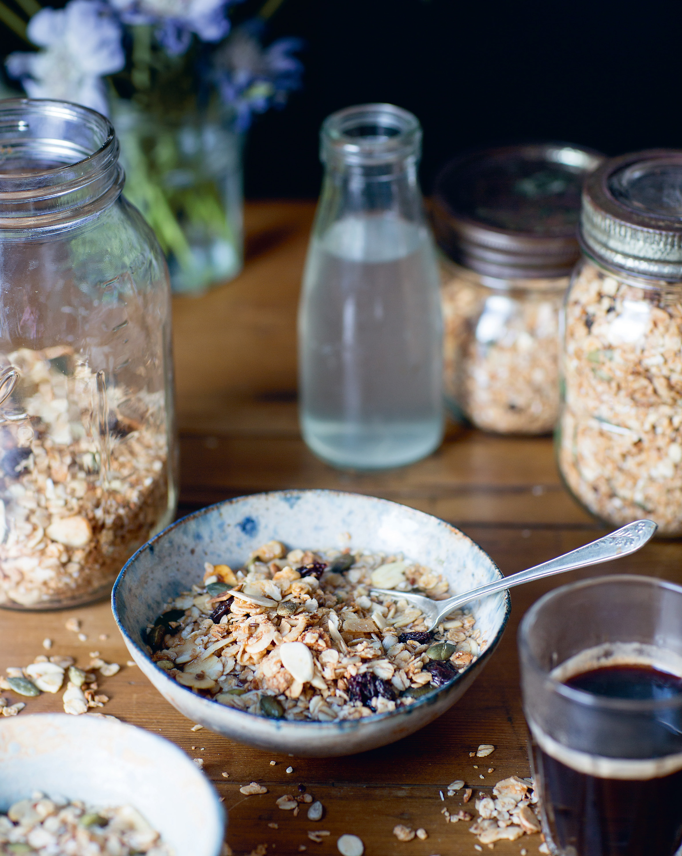 Coconut + almond granola