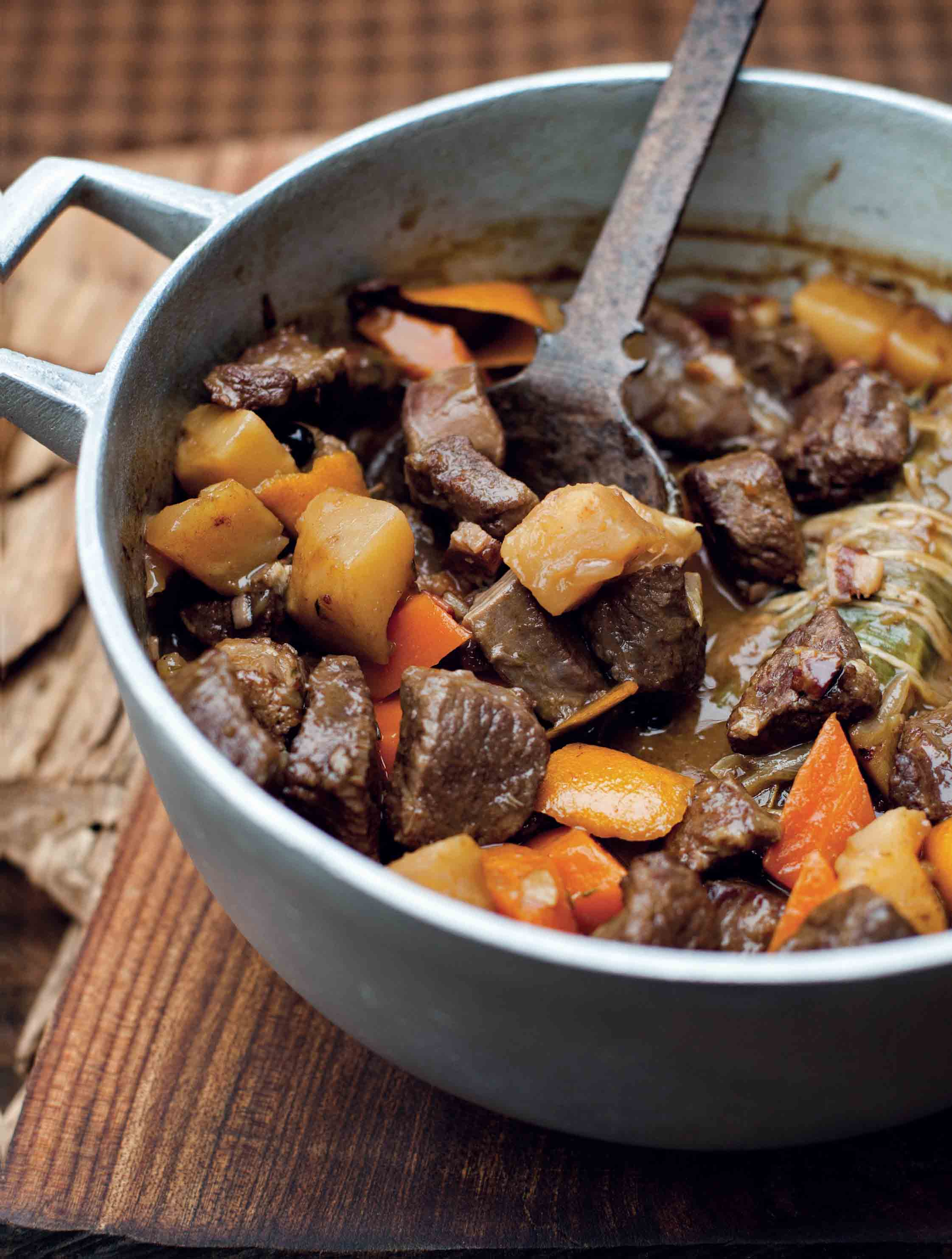 Venison stew with celeriac and orange