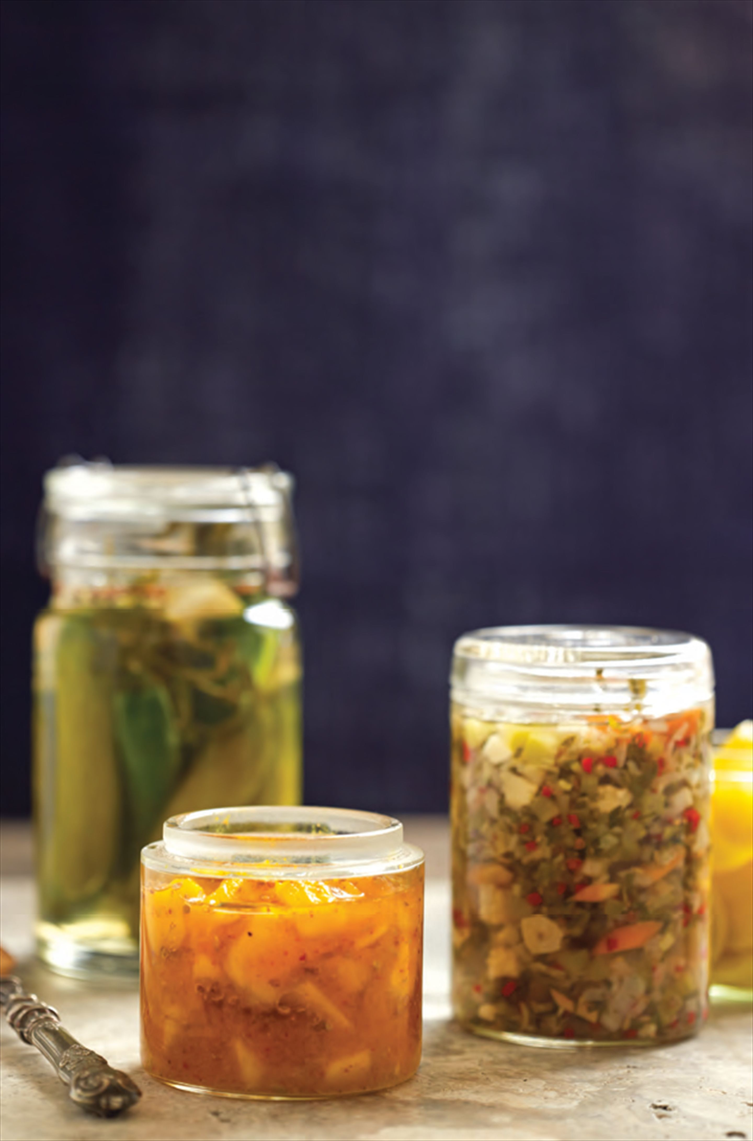 Tarragon-pickled cucumbers