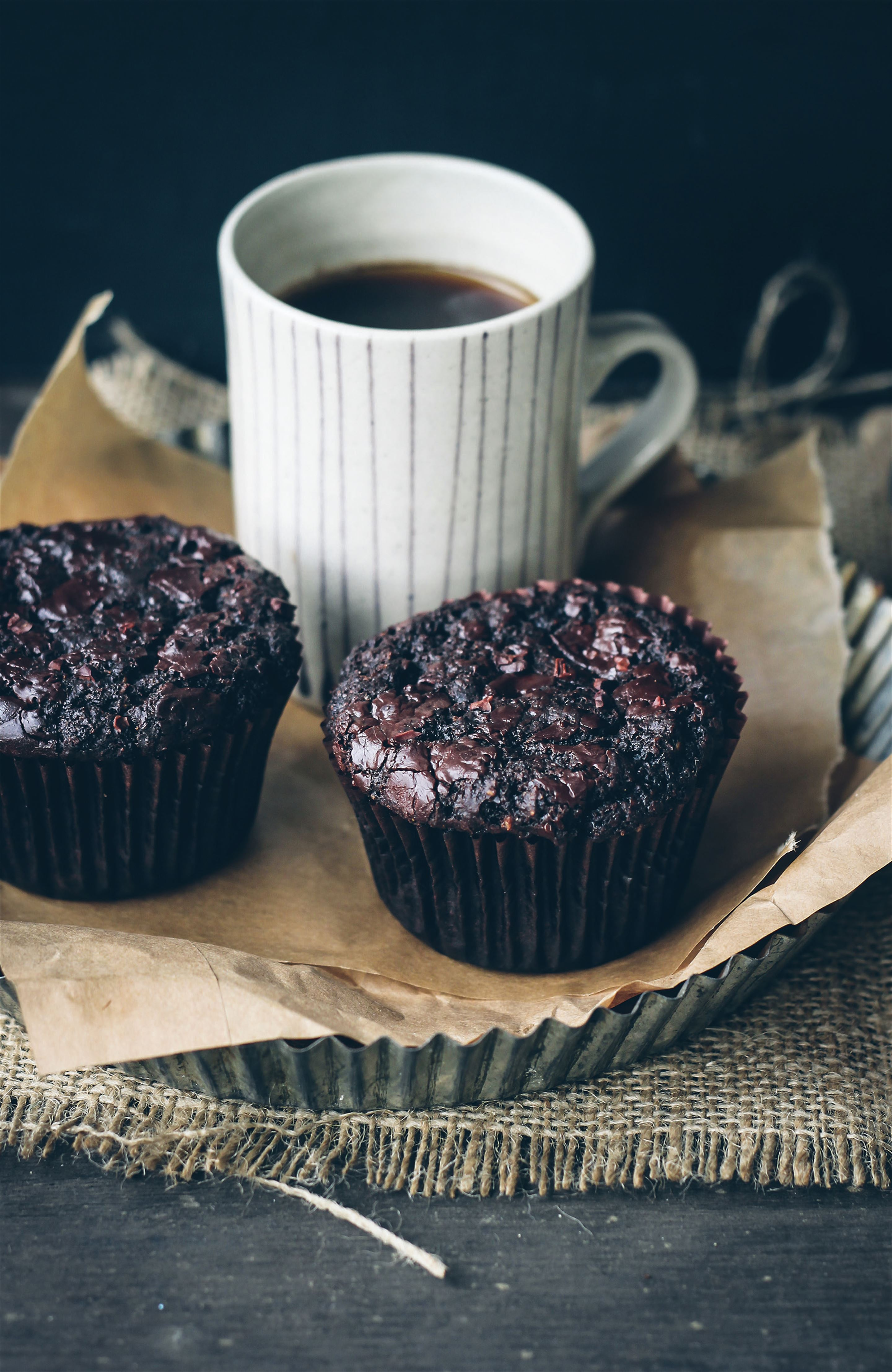Wholegrain double chocolate muffin mix