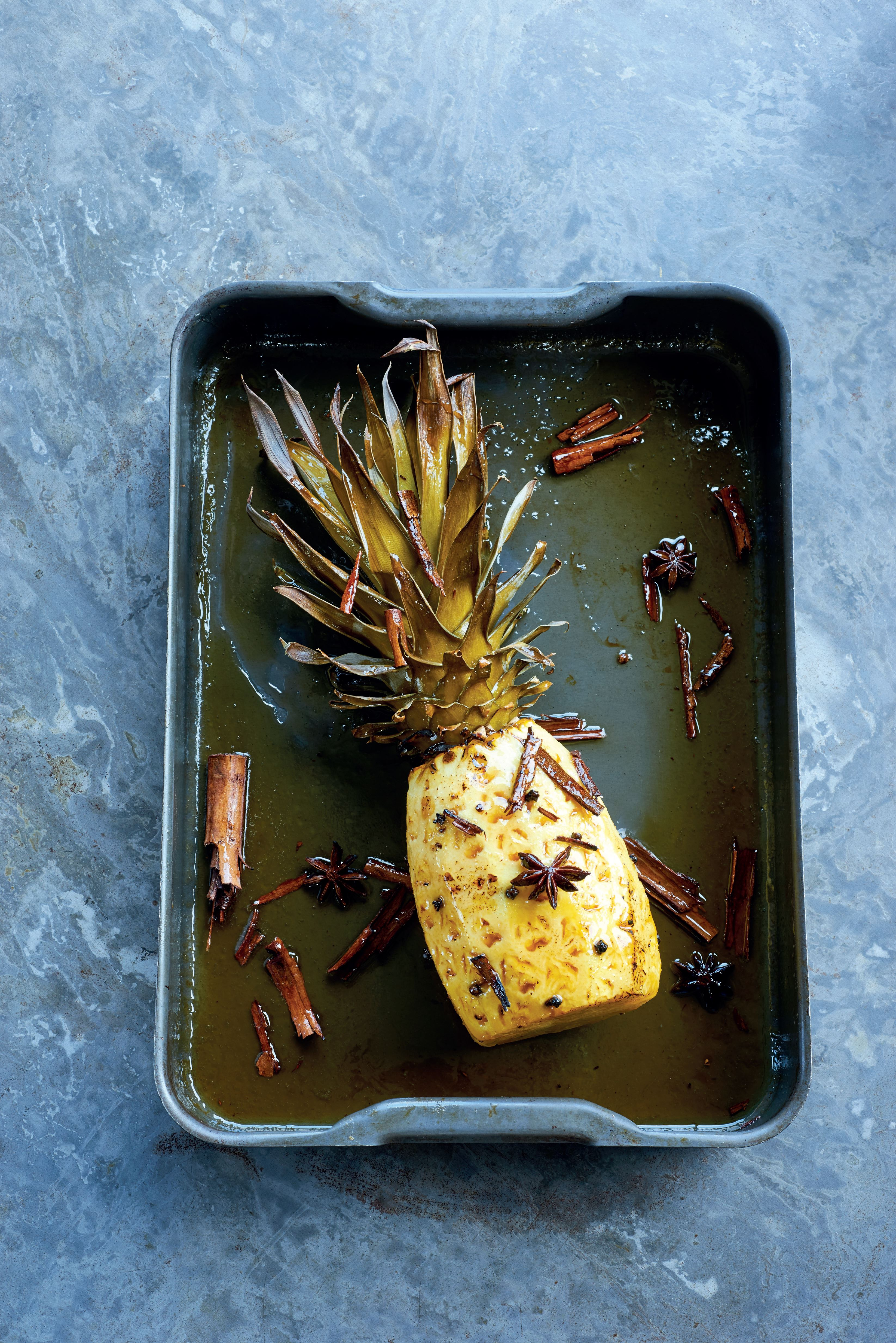 Studded roasted pineapple