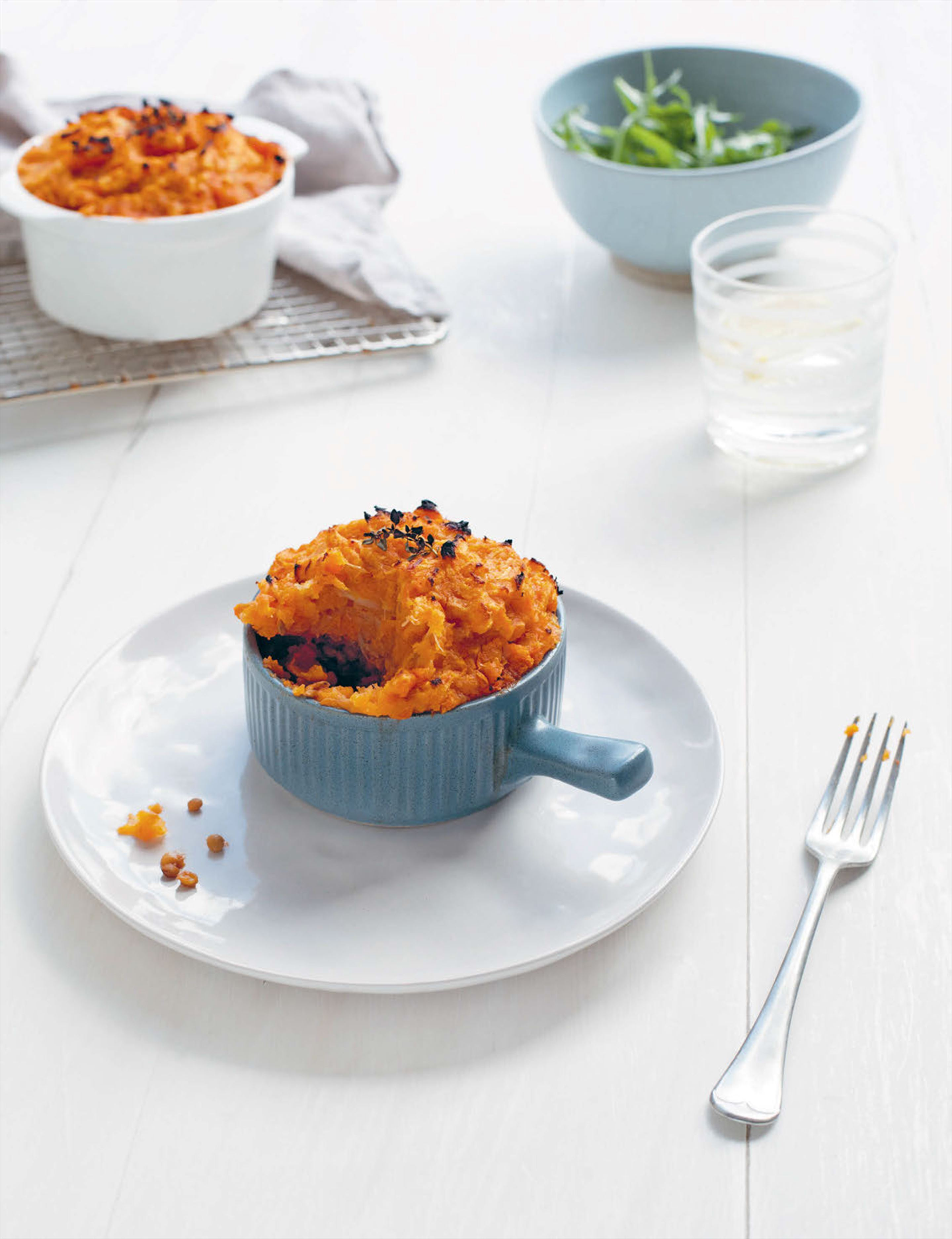 Cottage pies with root vegetable mash