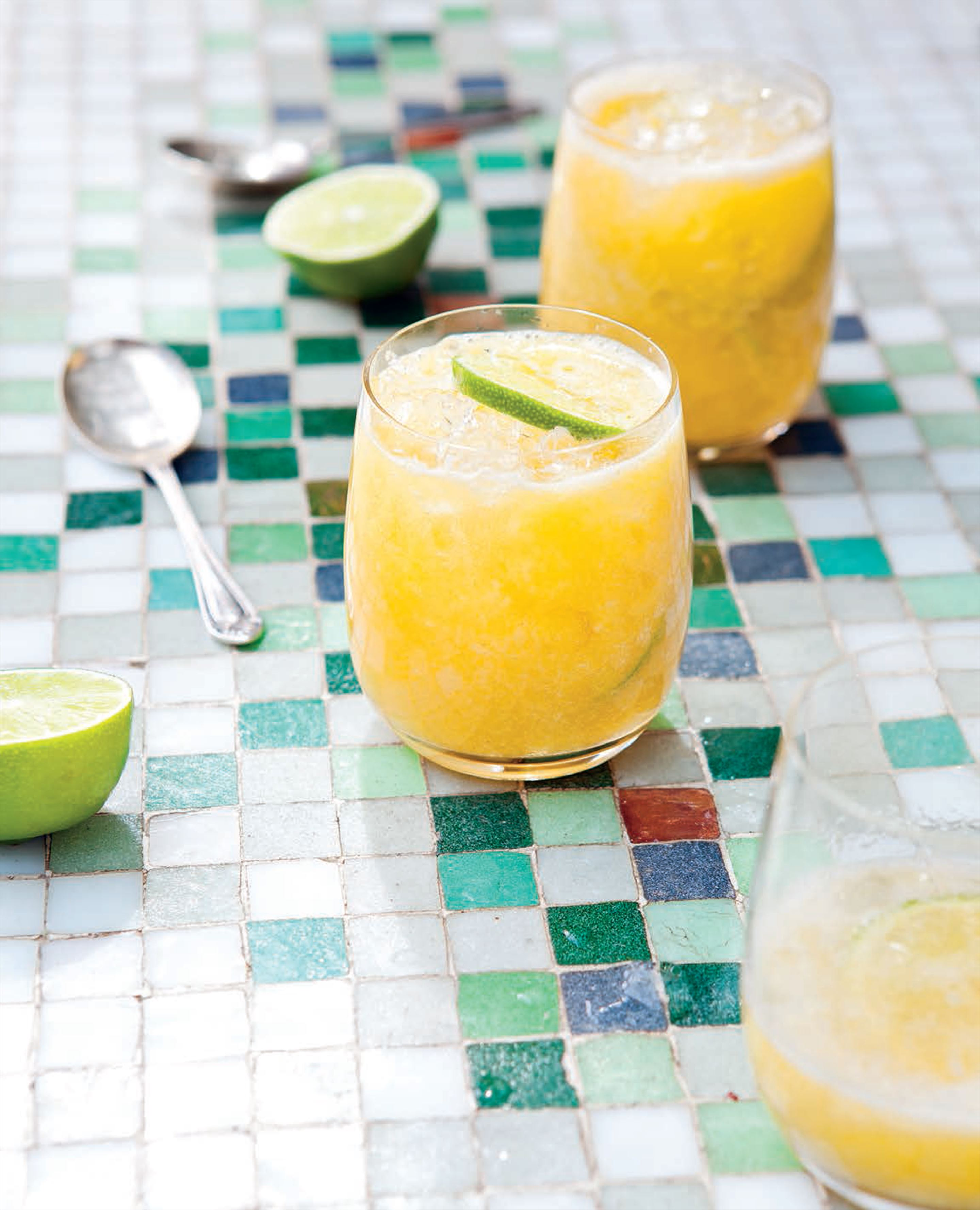 Brazilian blended pineapple and passionfruit cocktail