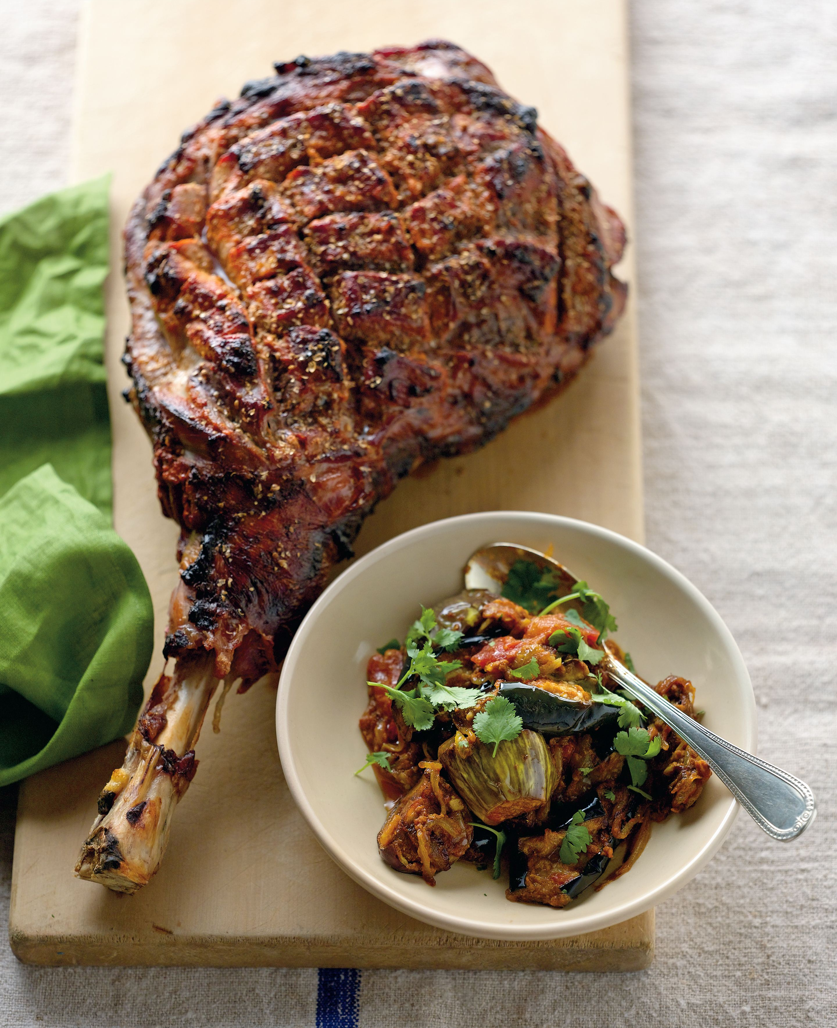 Tandoori leg of lamb