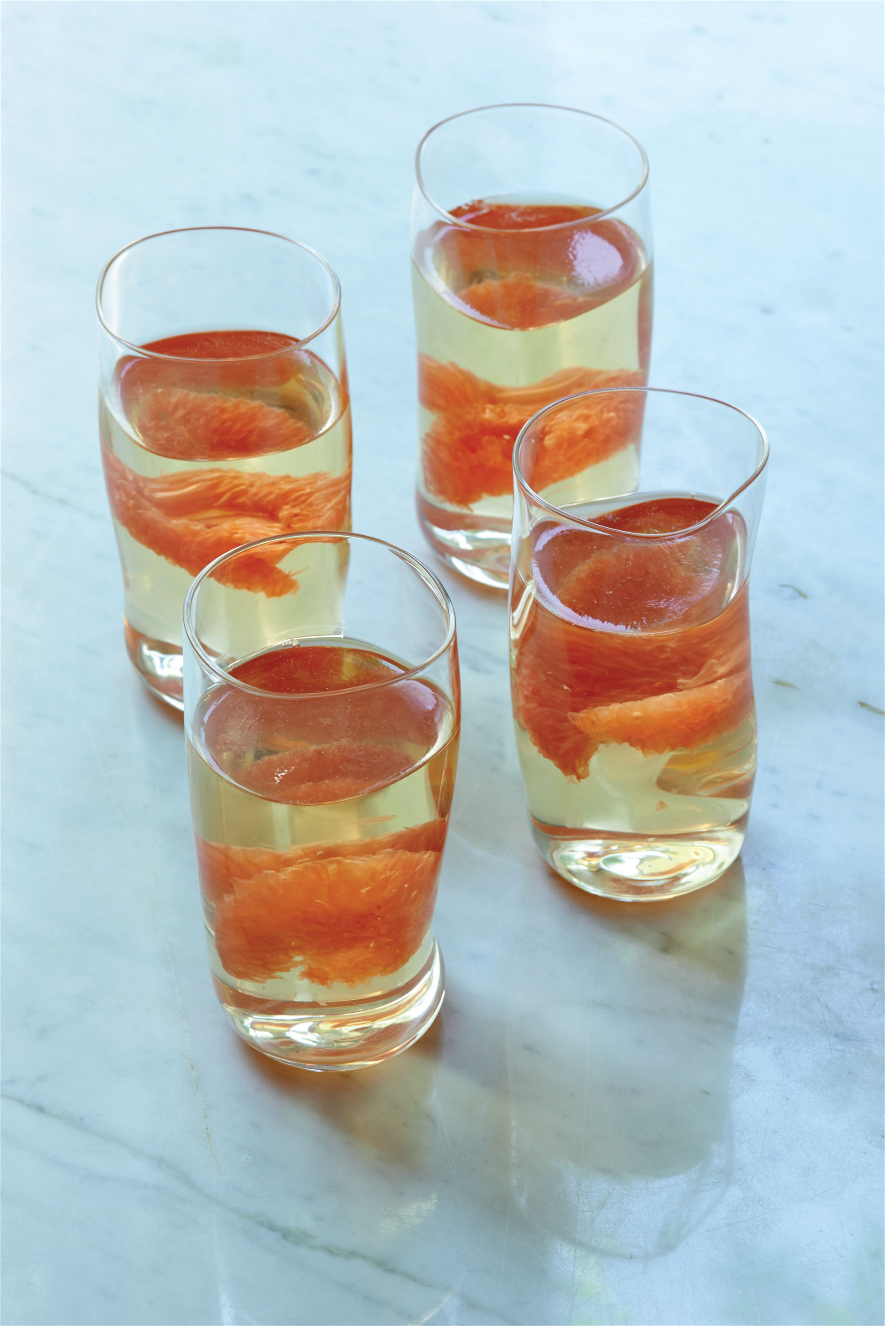 Pink grapefruit and champagne jelly