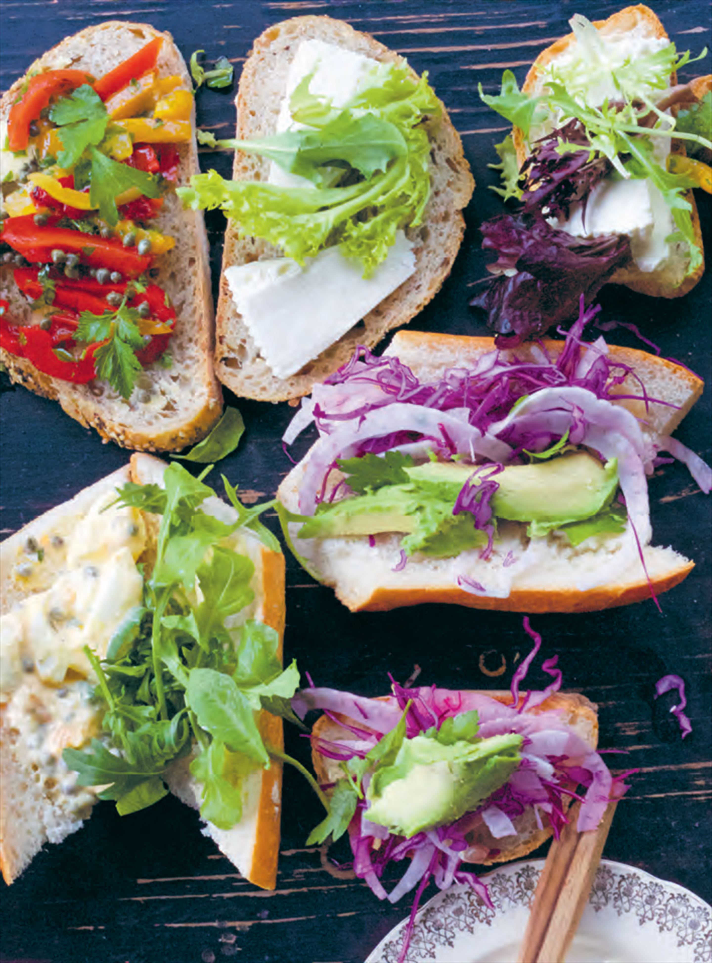 Fennel slaw + avocado sandwiches