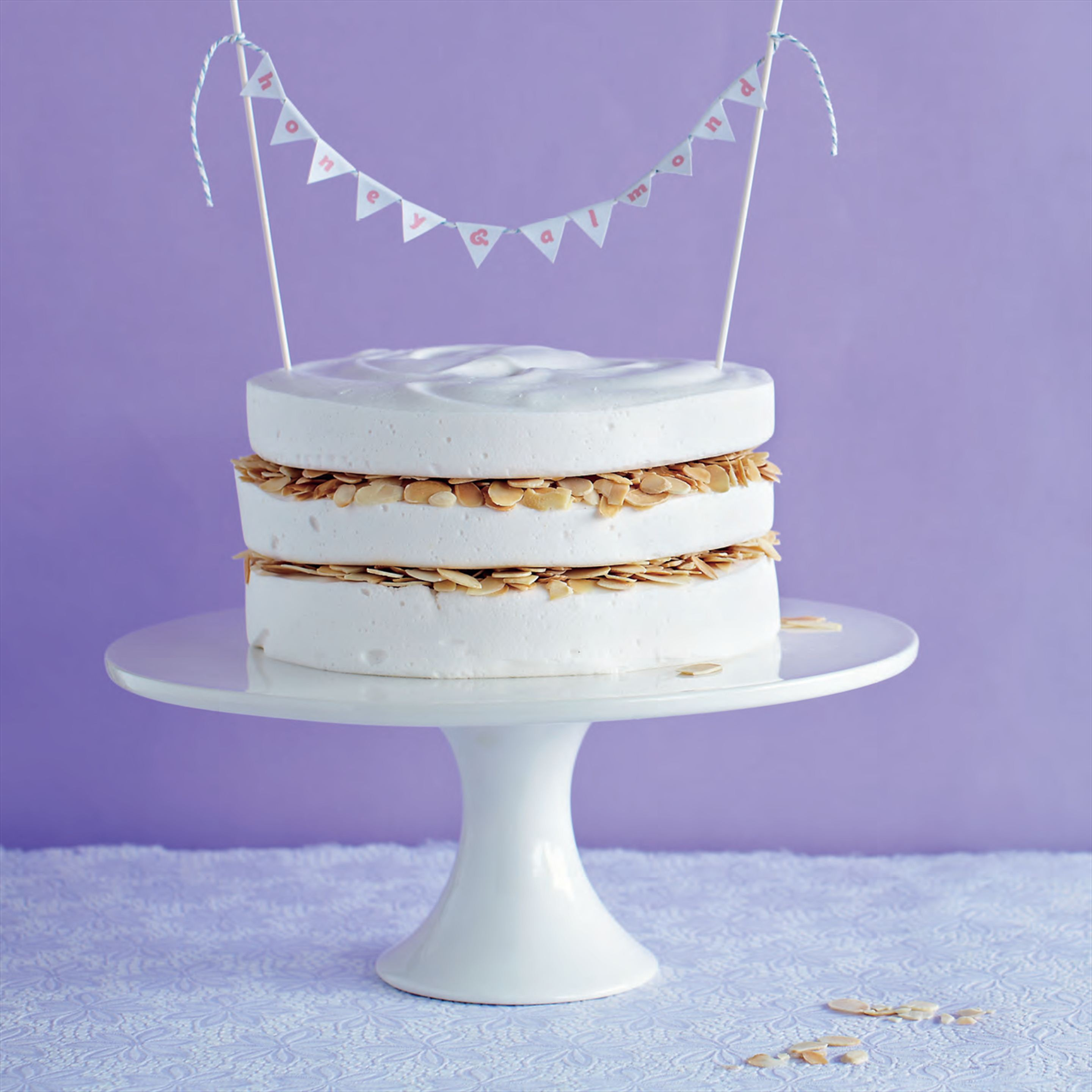 Honey & almond marshmallow cake