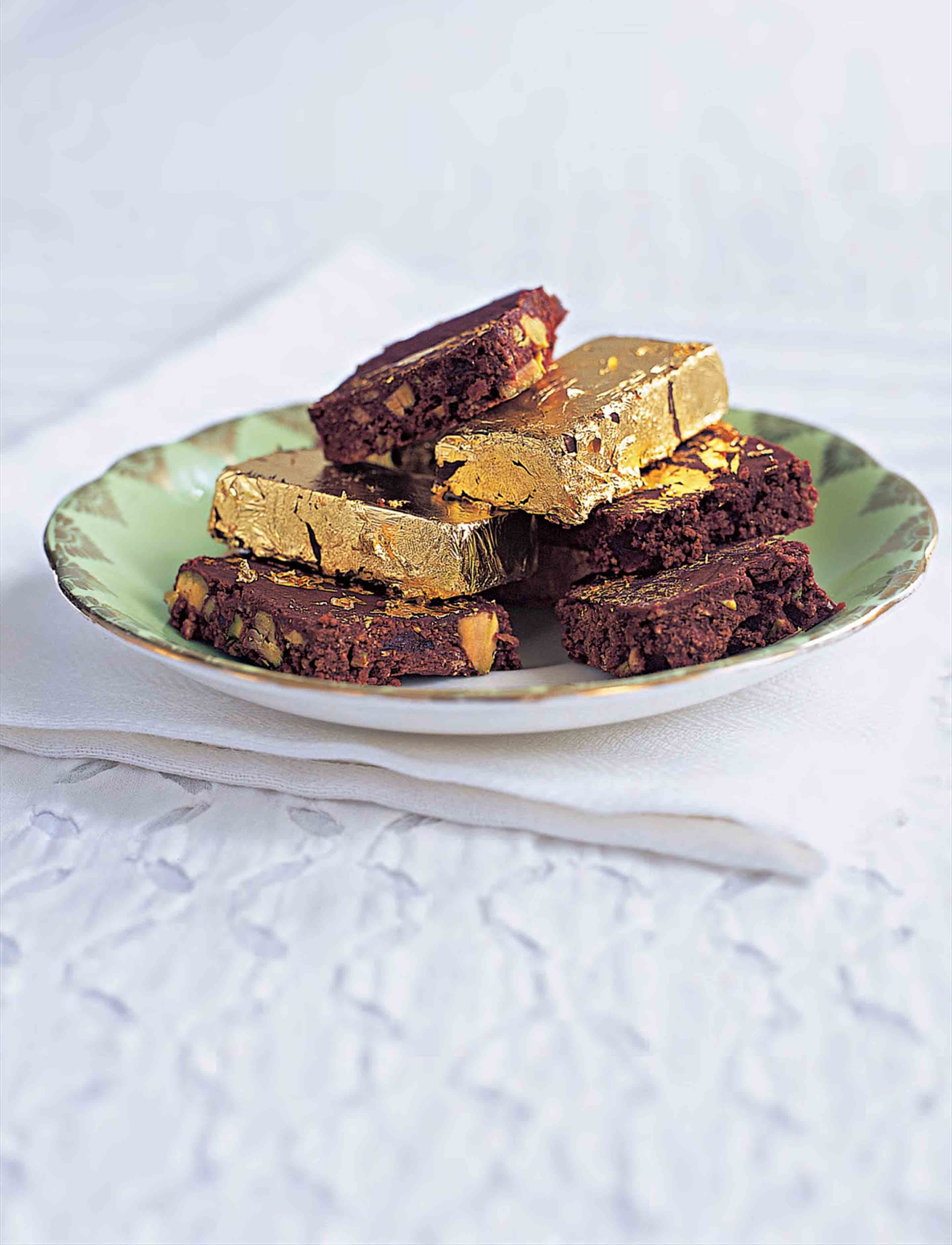 Gilded chocolate tiffin