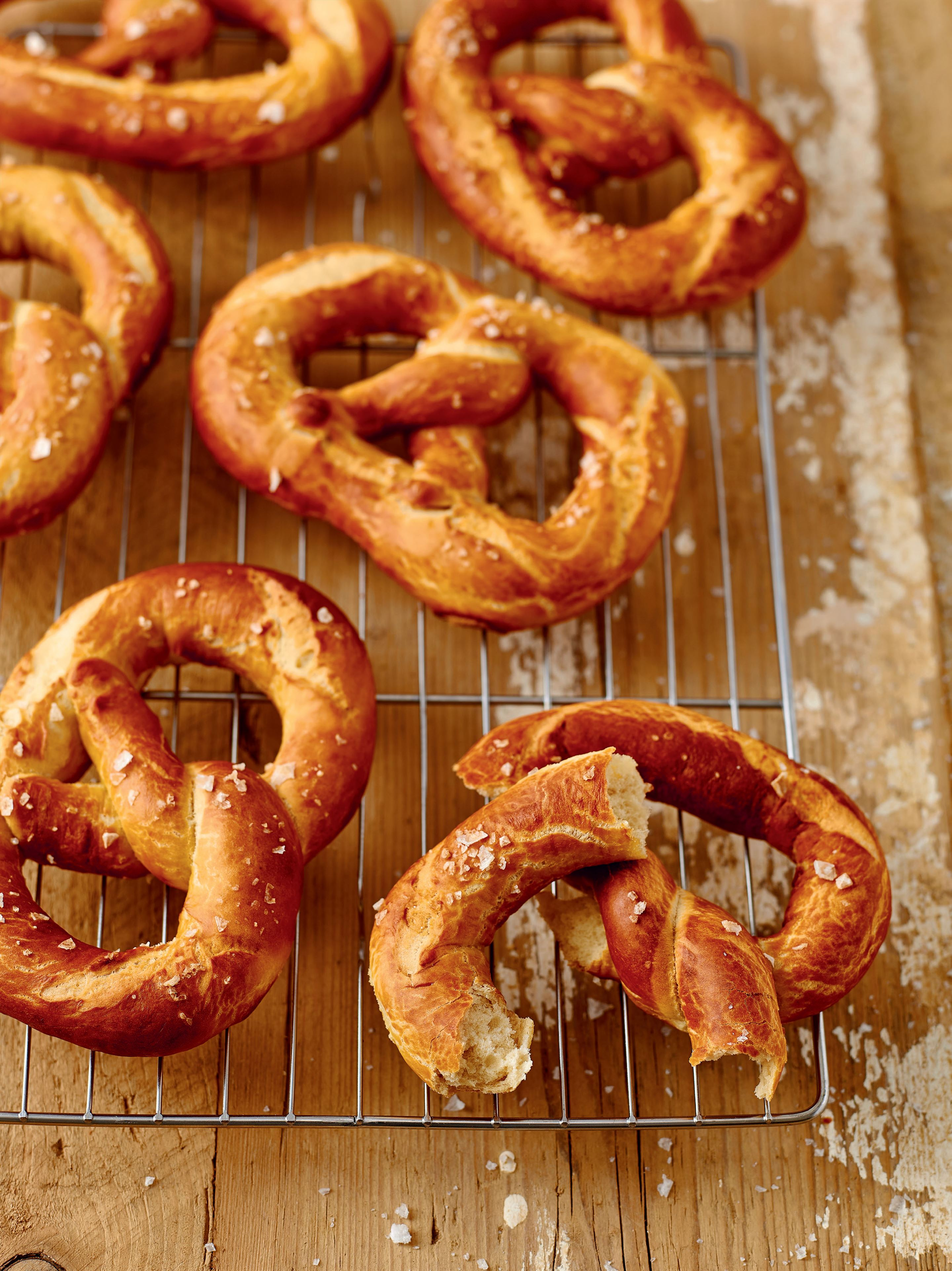 Big soft pretzels