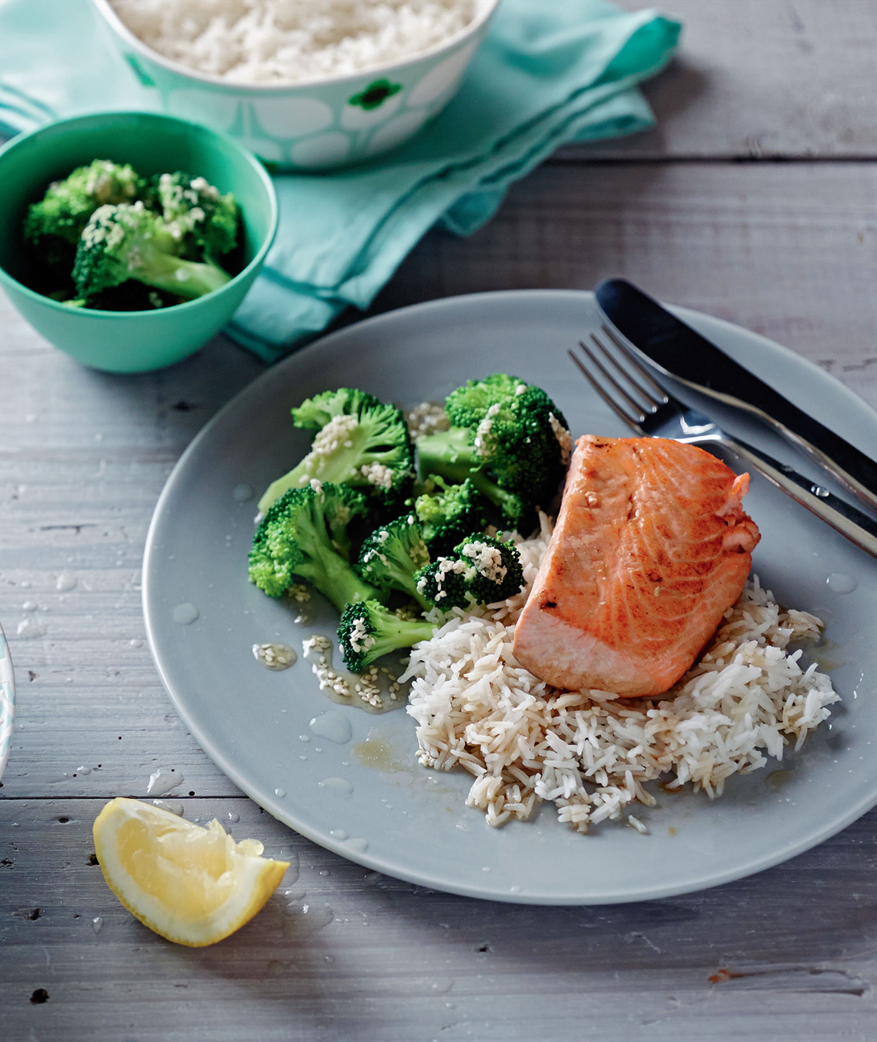Tuckshop teriyaki salmon