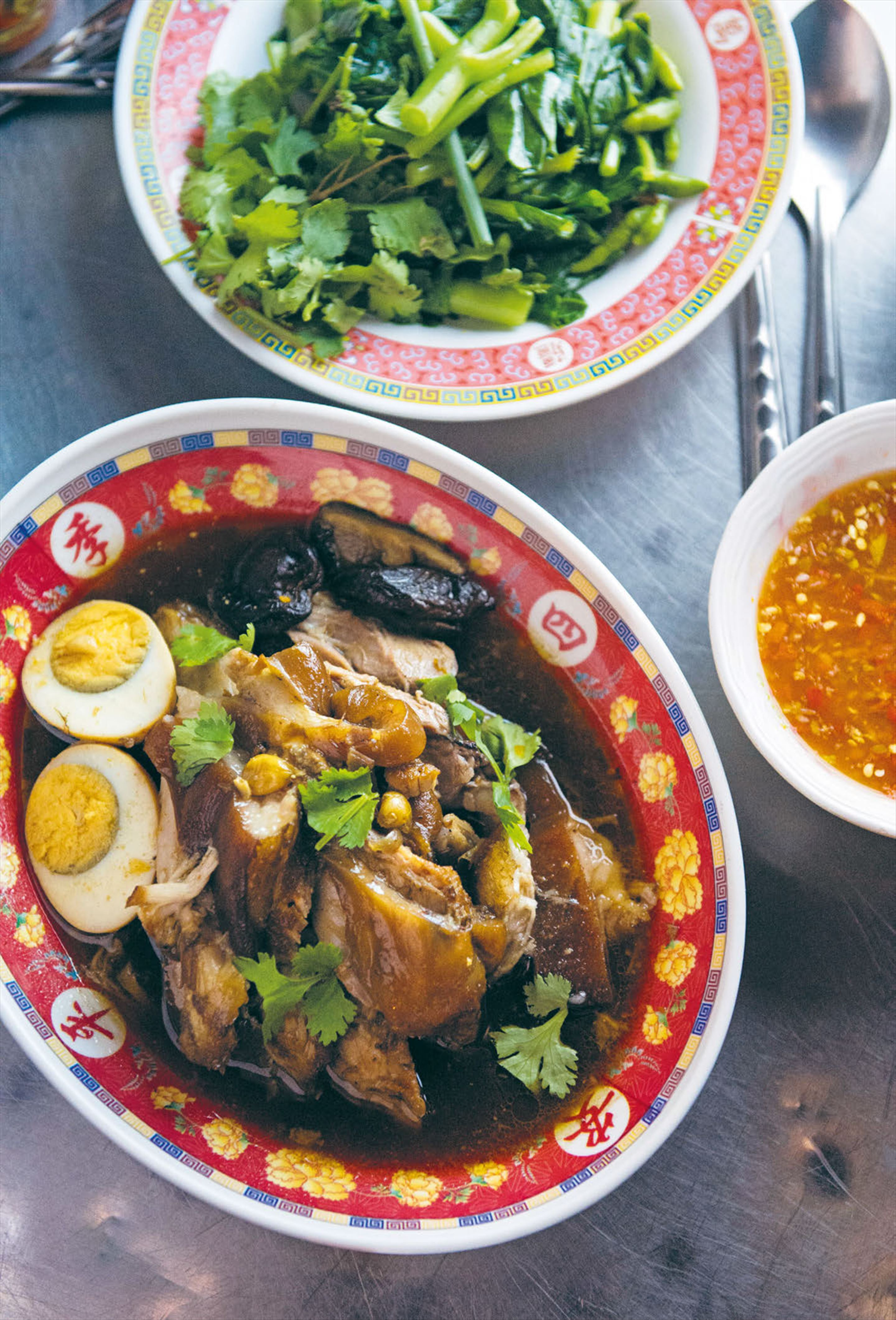 Slow-braised pork hock in soy & coconut juice