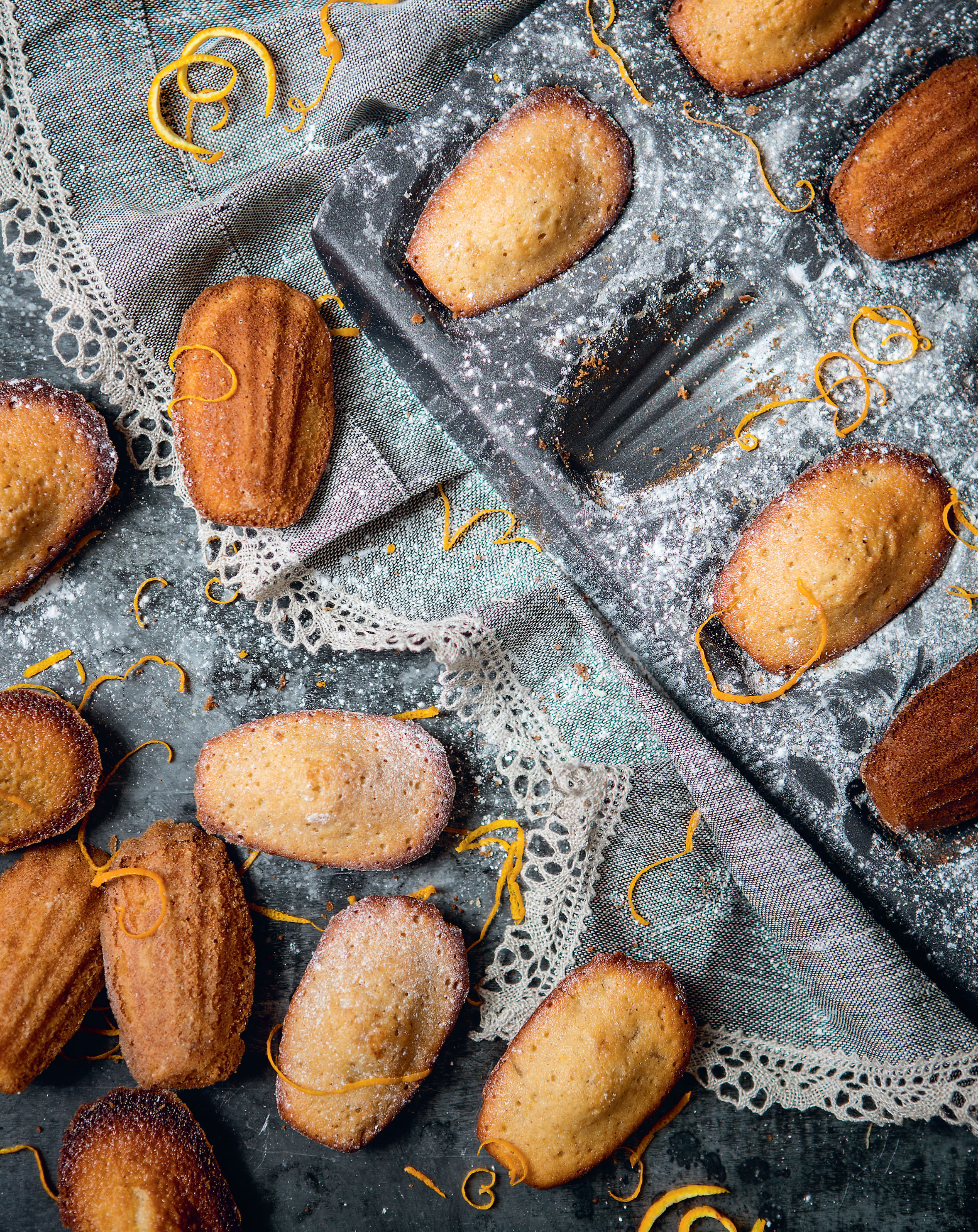 Orange + ginger madeleines