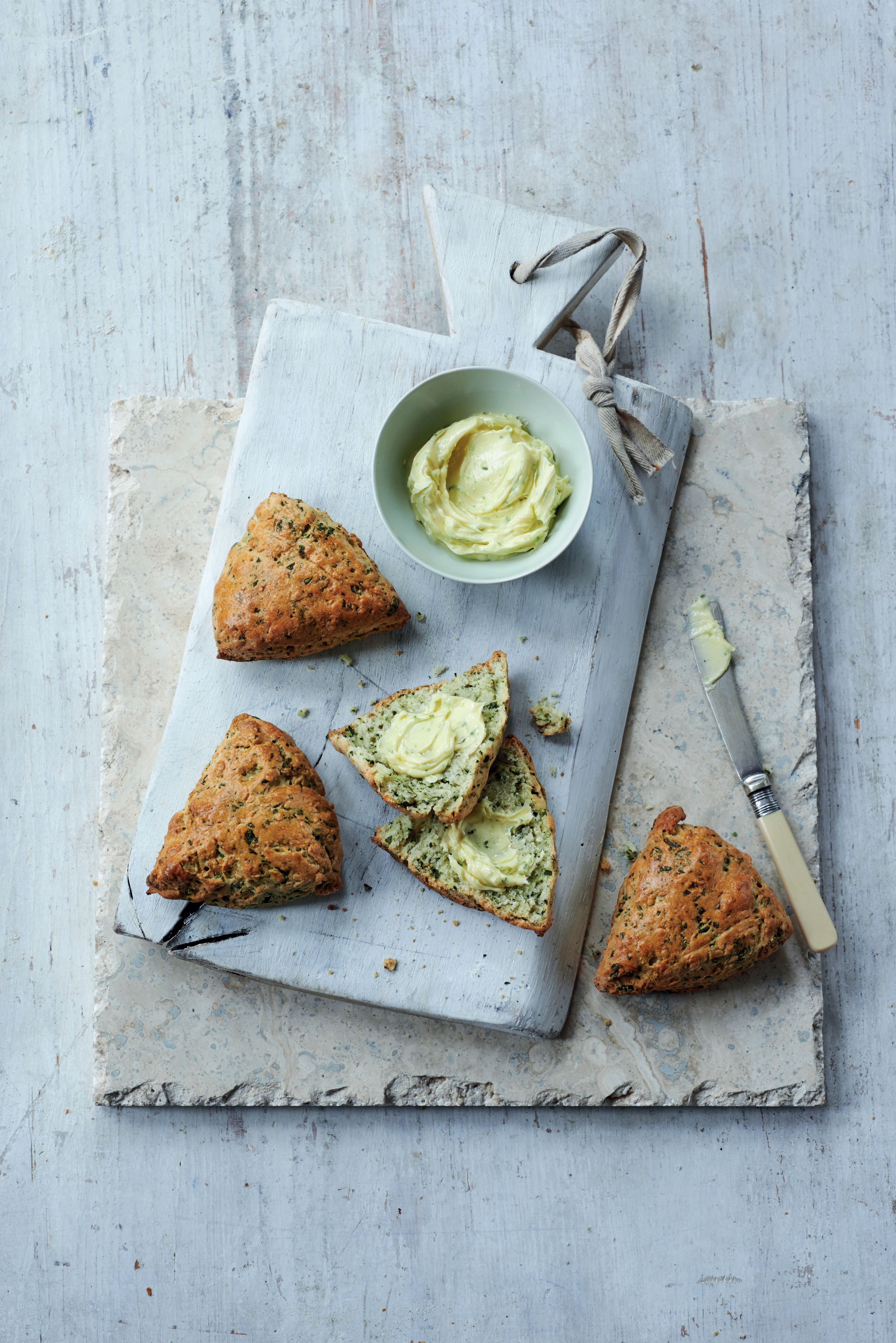 Watercress scones