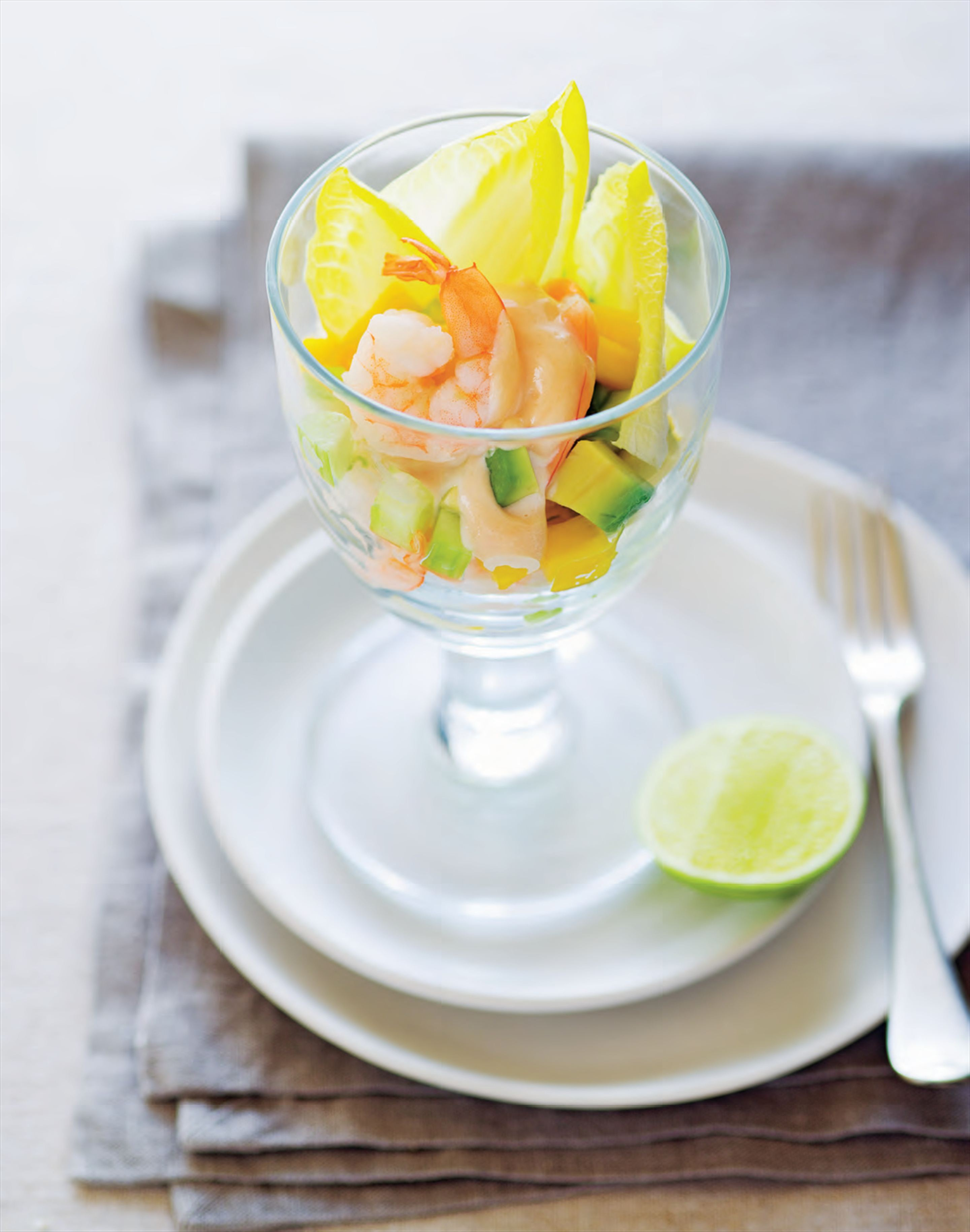 Tropical prawn cocktails