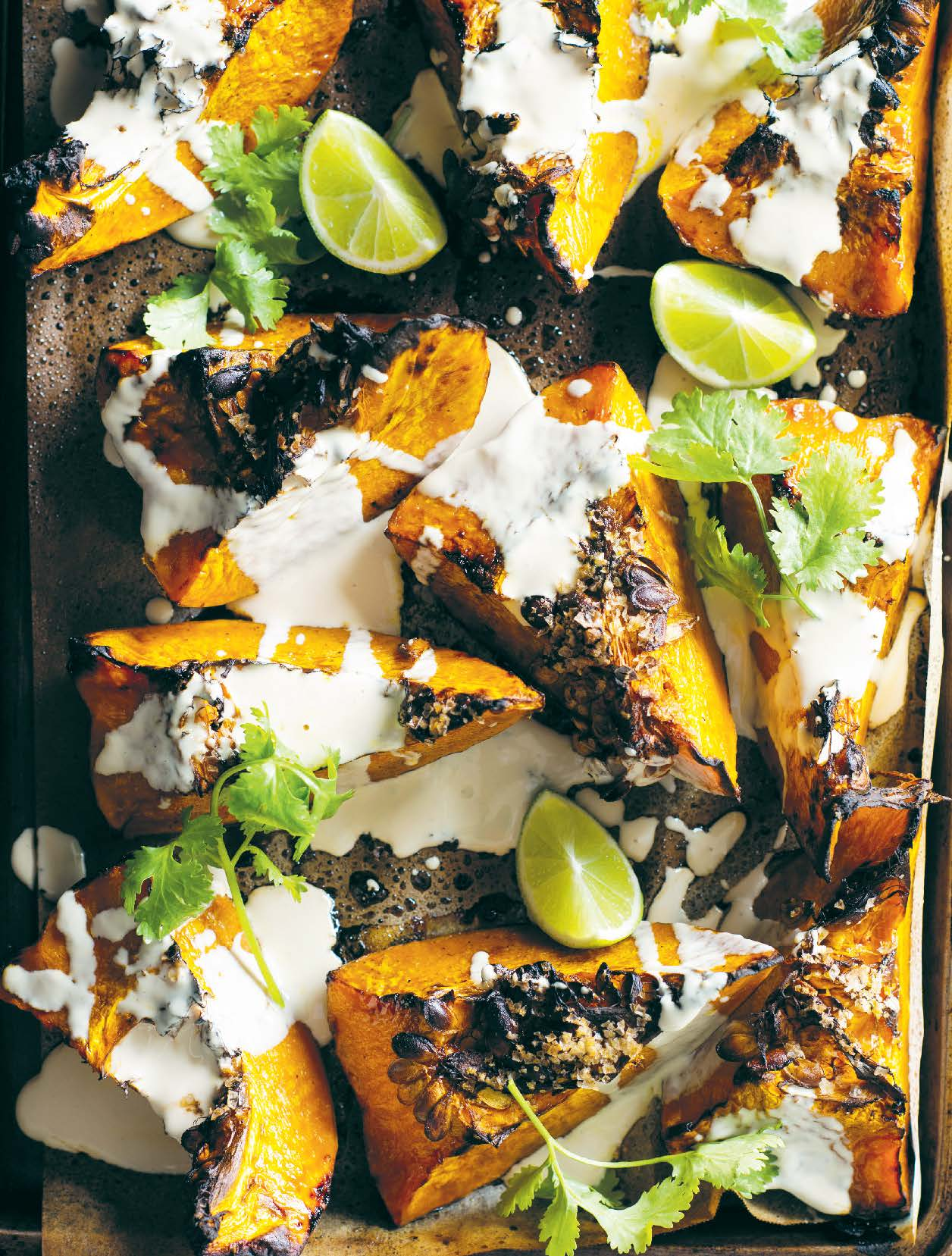 Roast pumpkin with chai spice and buttermilk