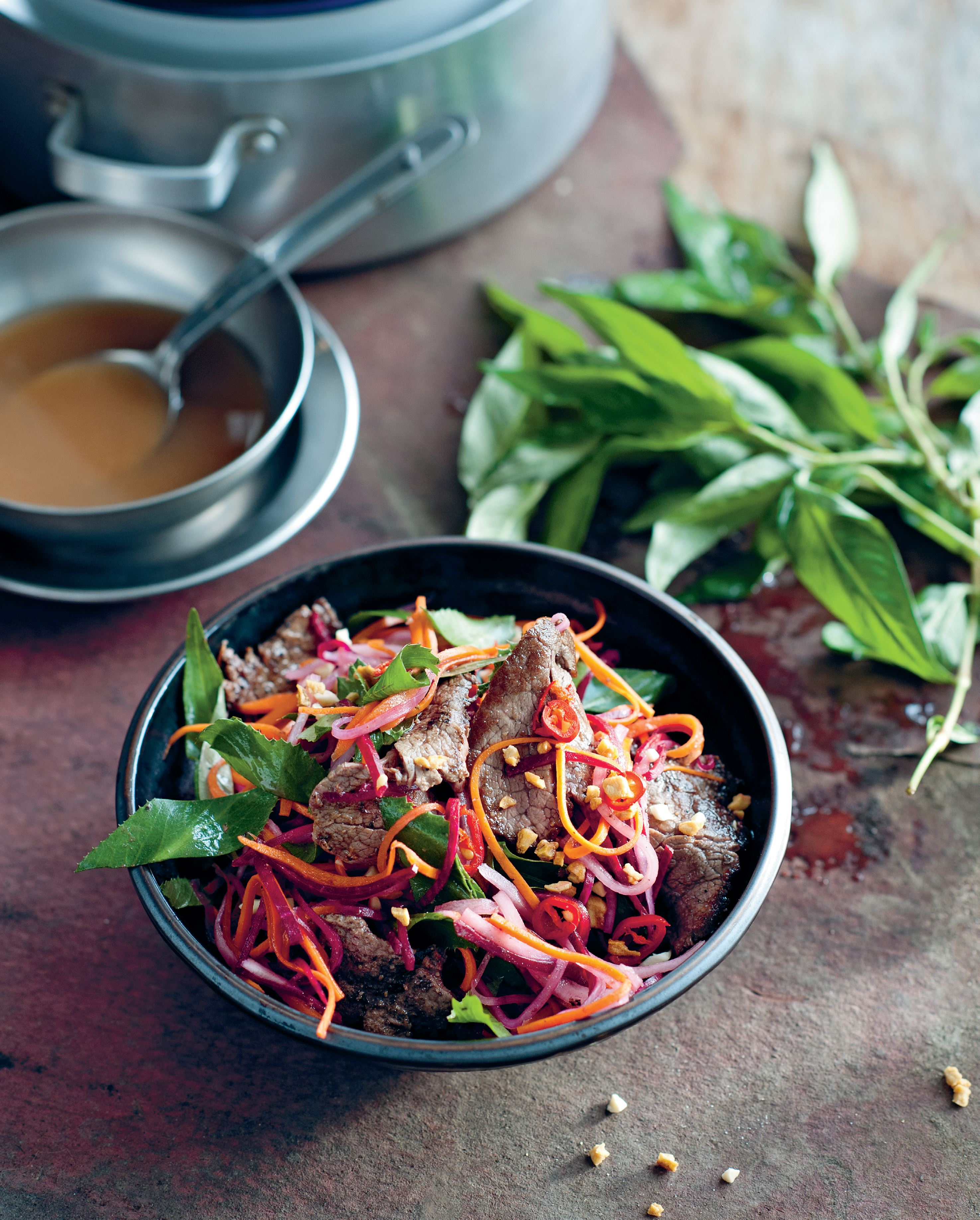 Tamarind beef and kohlrabi salad