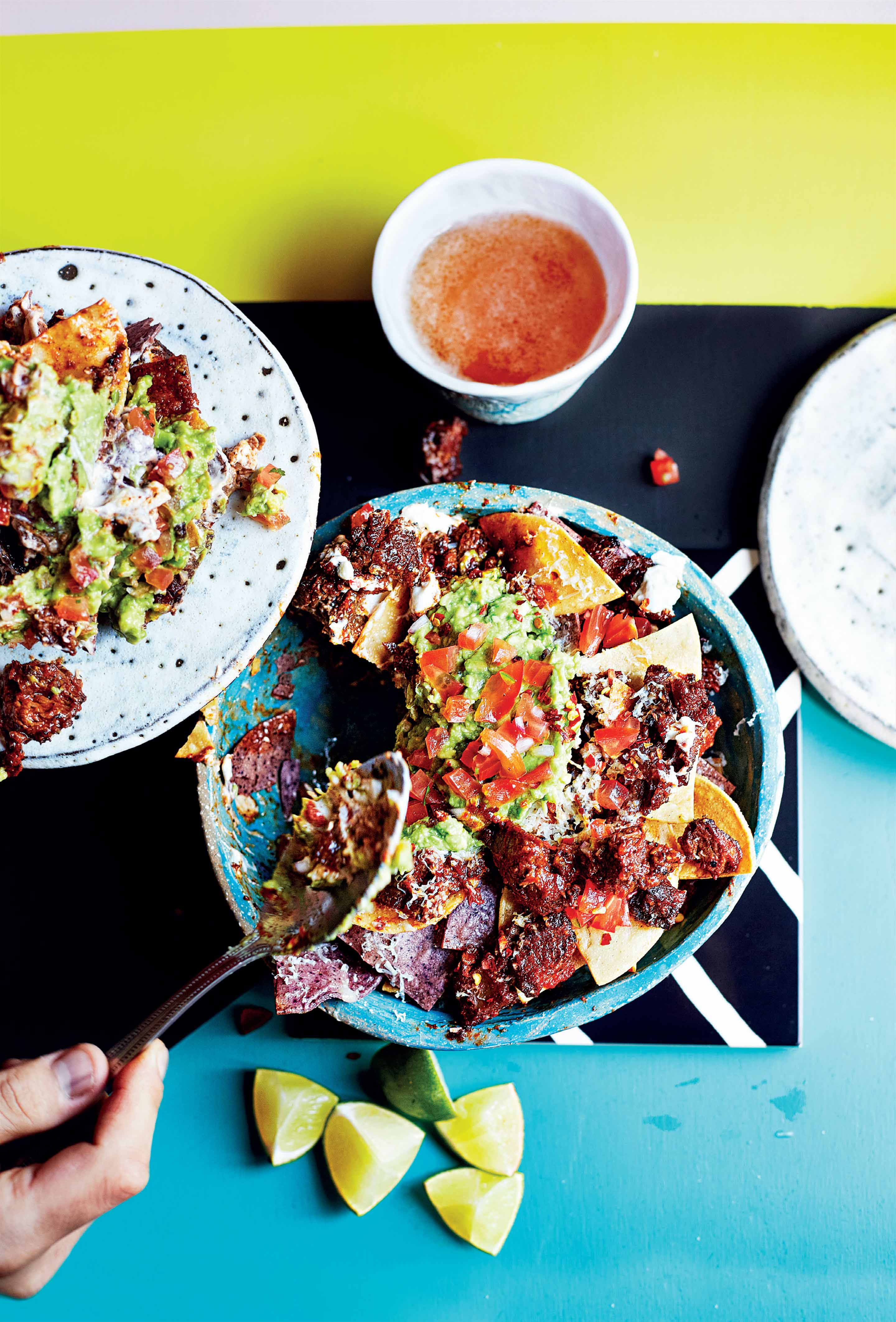Sunday short-rib barbacoa nachos