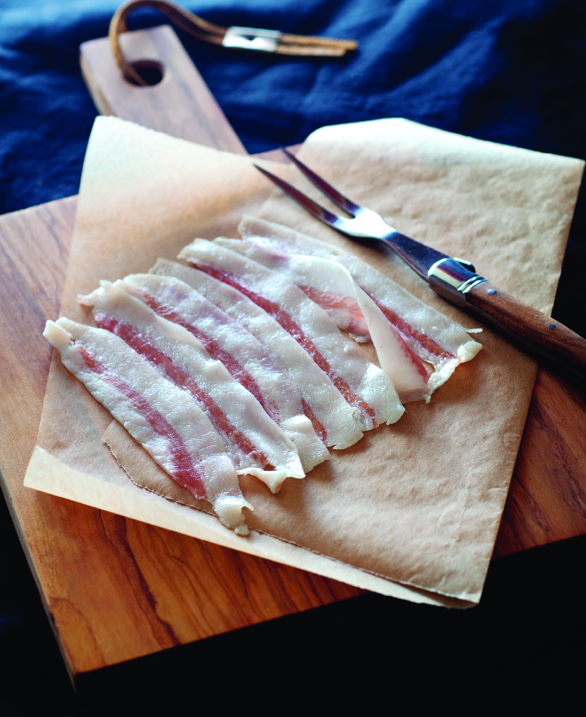 Guanciale (cured pork cheek)