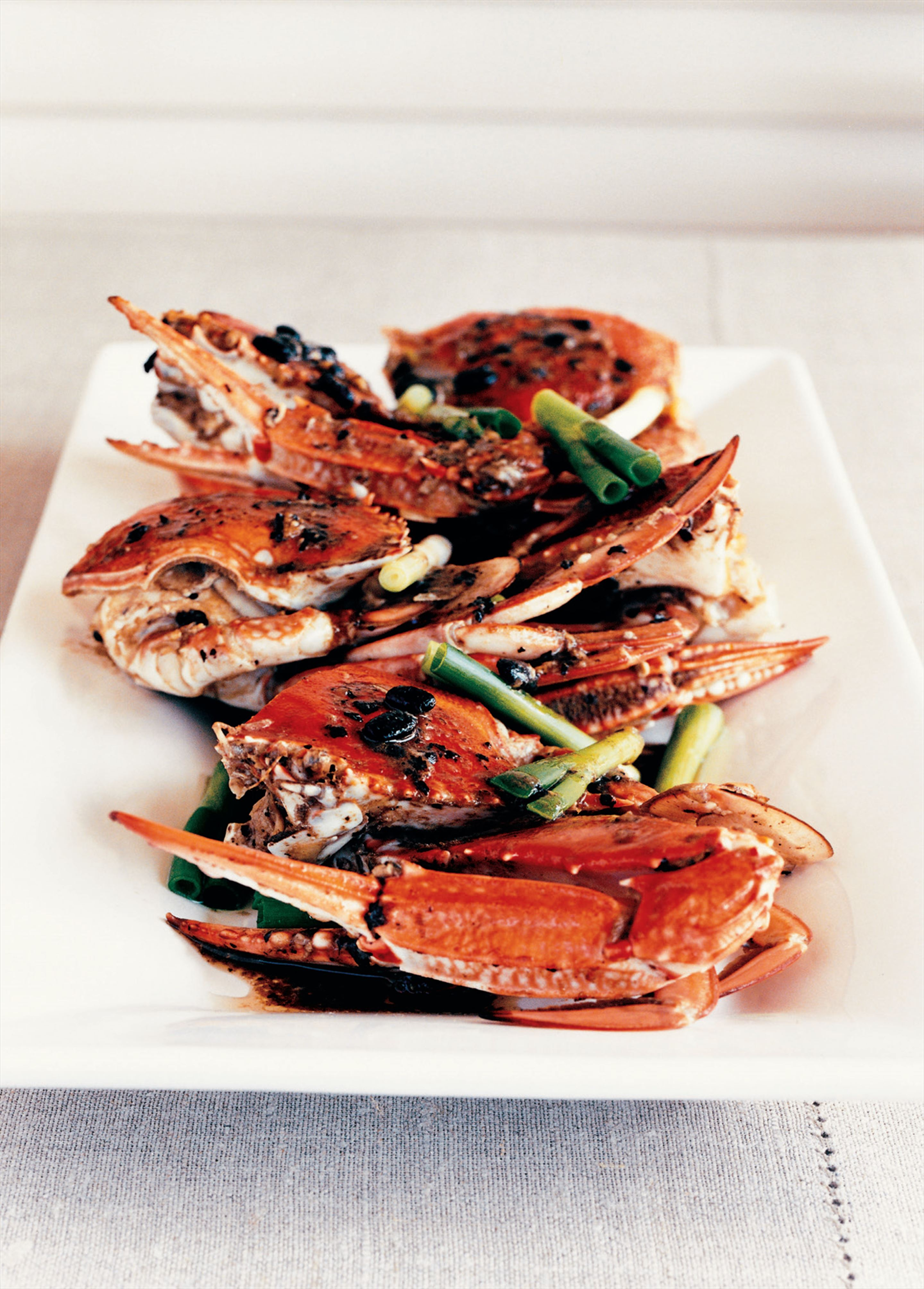 Crab with black bean sauce