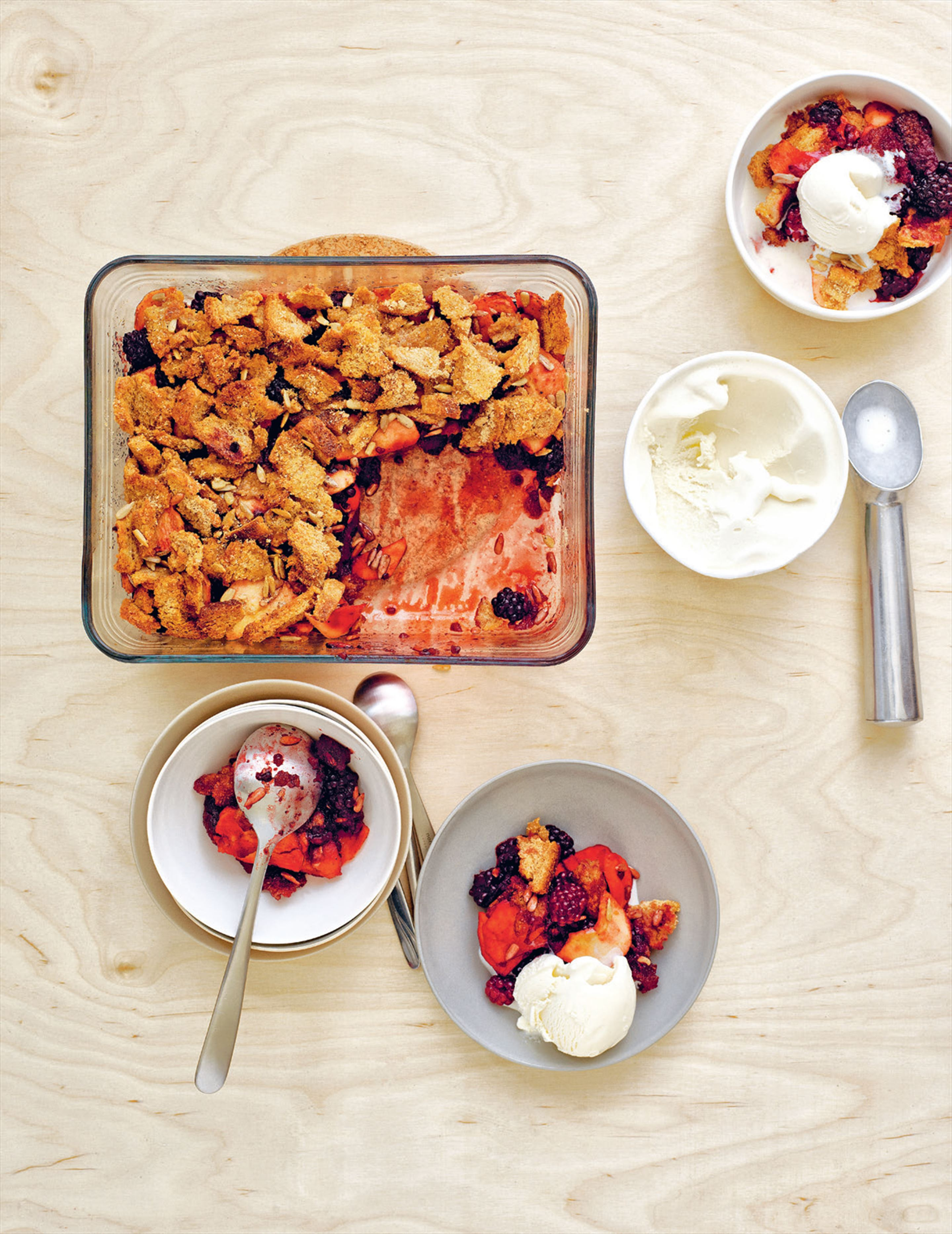 Blackberry, apple & maple brown Betty