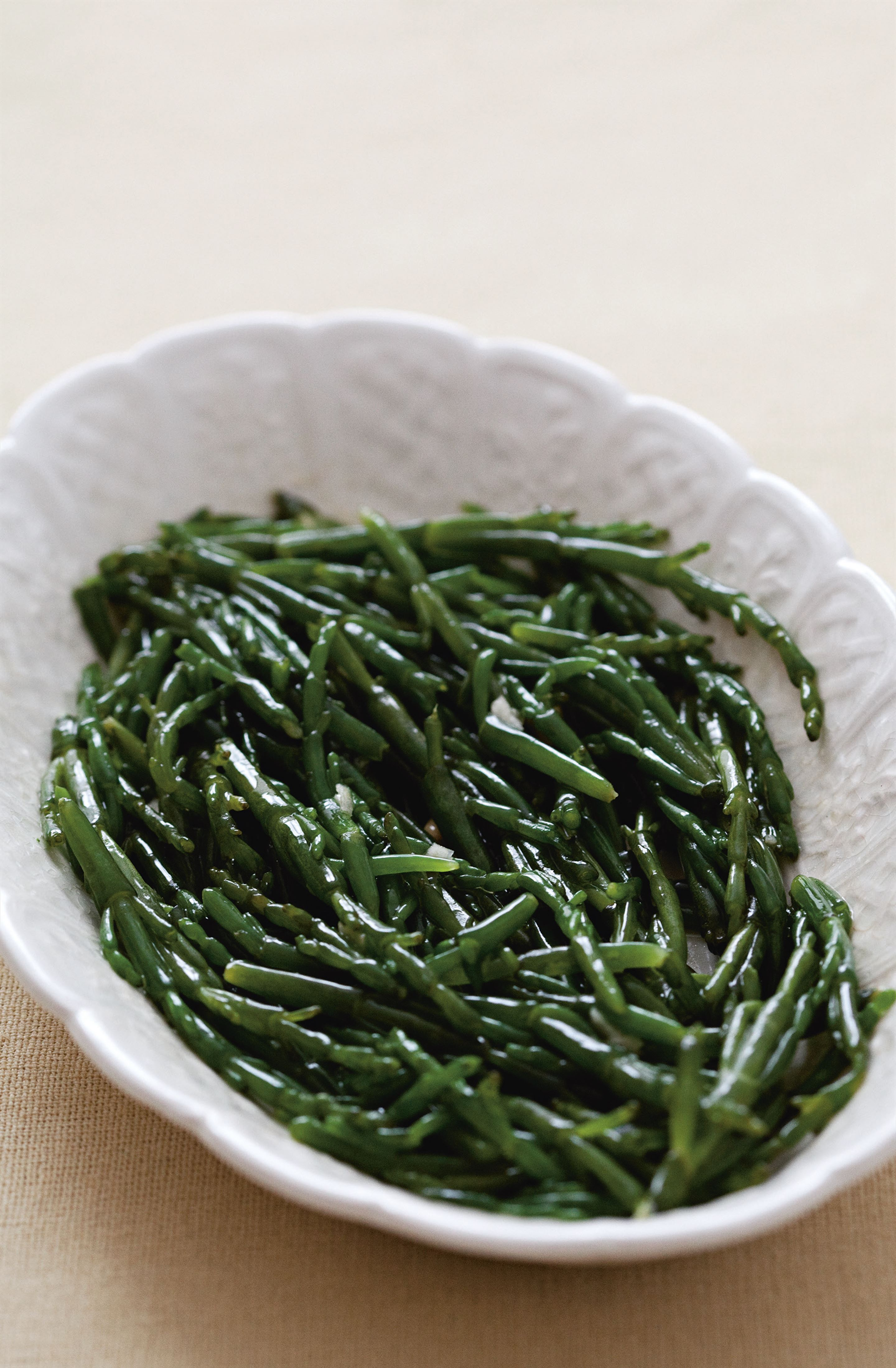 Samphire with garlic