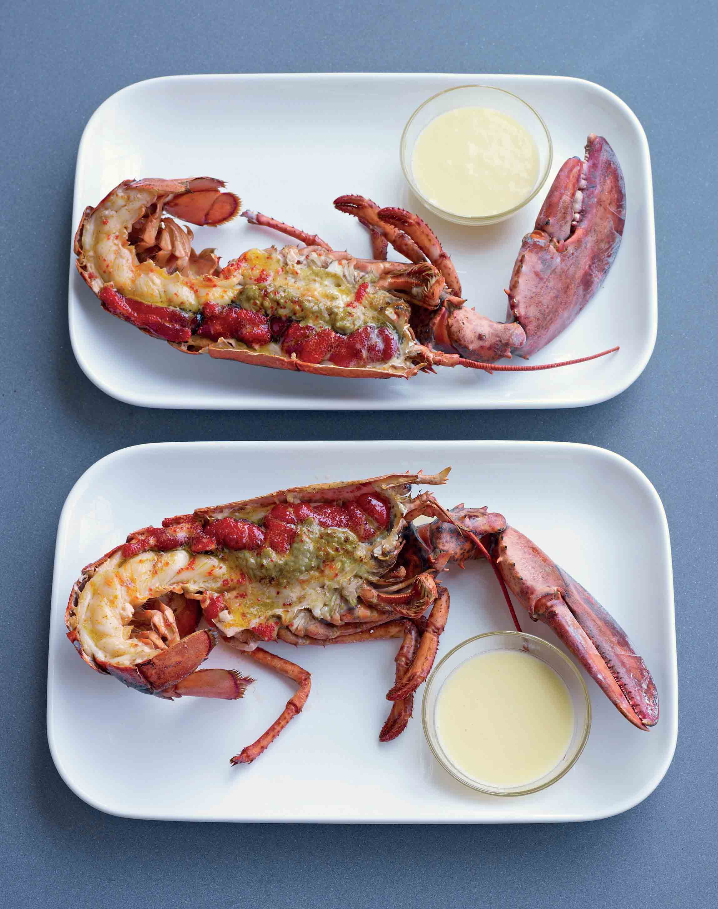 Grilled lobster with a beurre blanc sauce