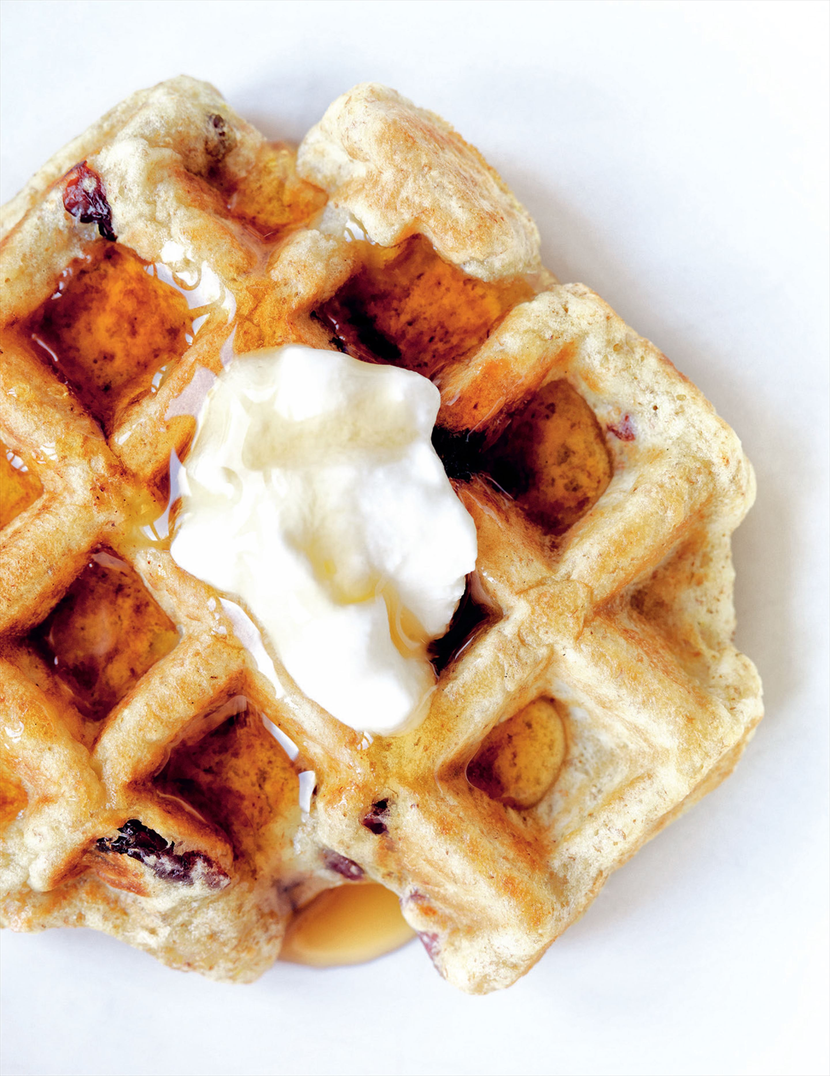 Multigrain apple & cranberry waffles