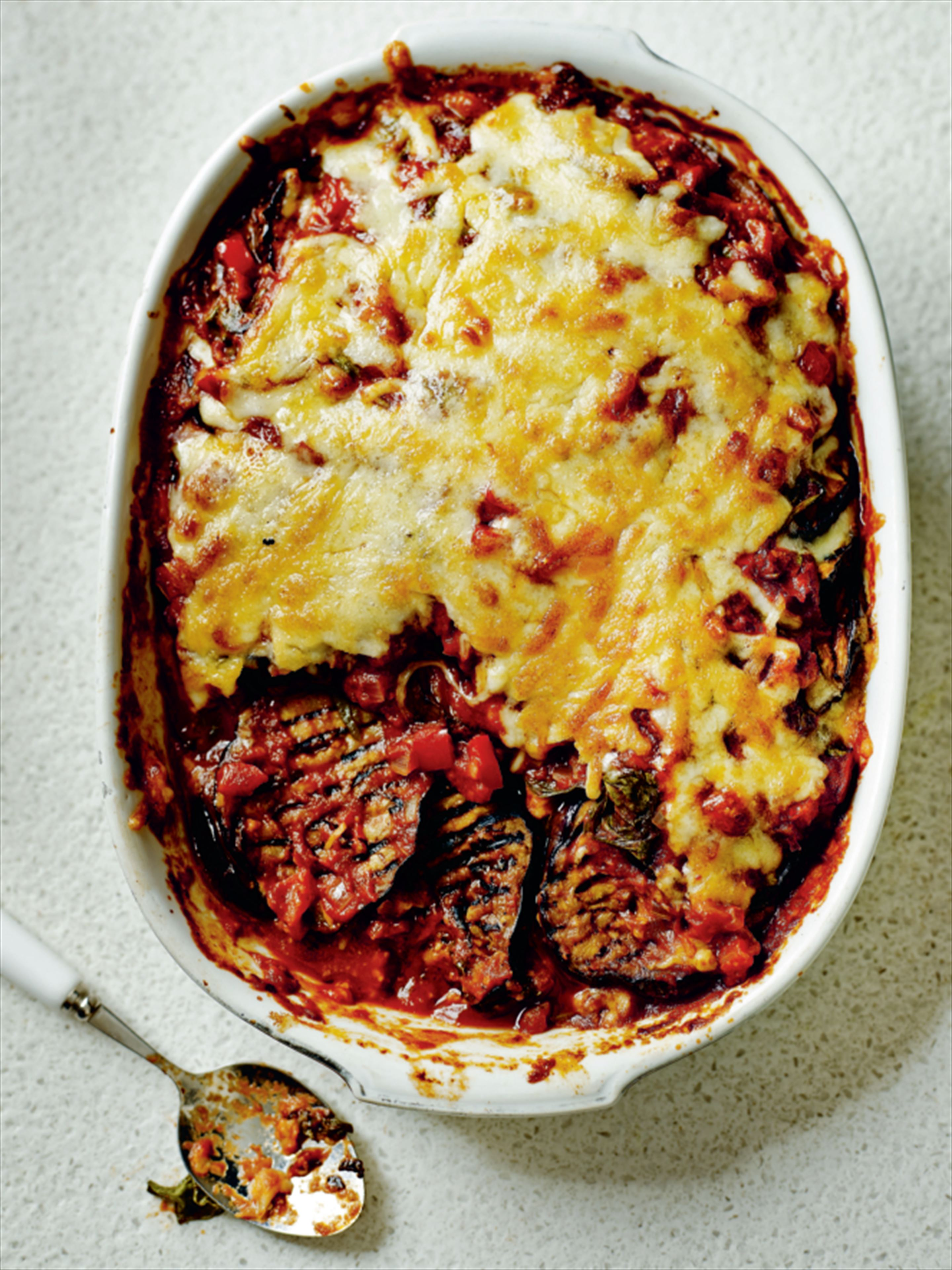 Aubergine layer bake