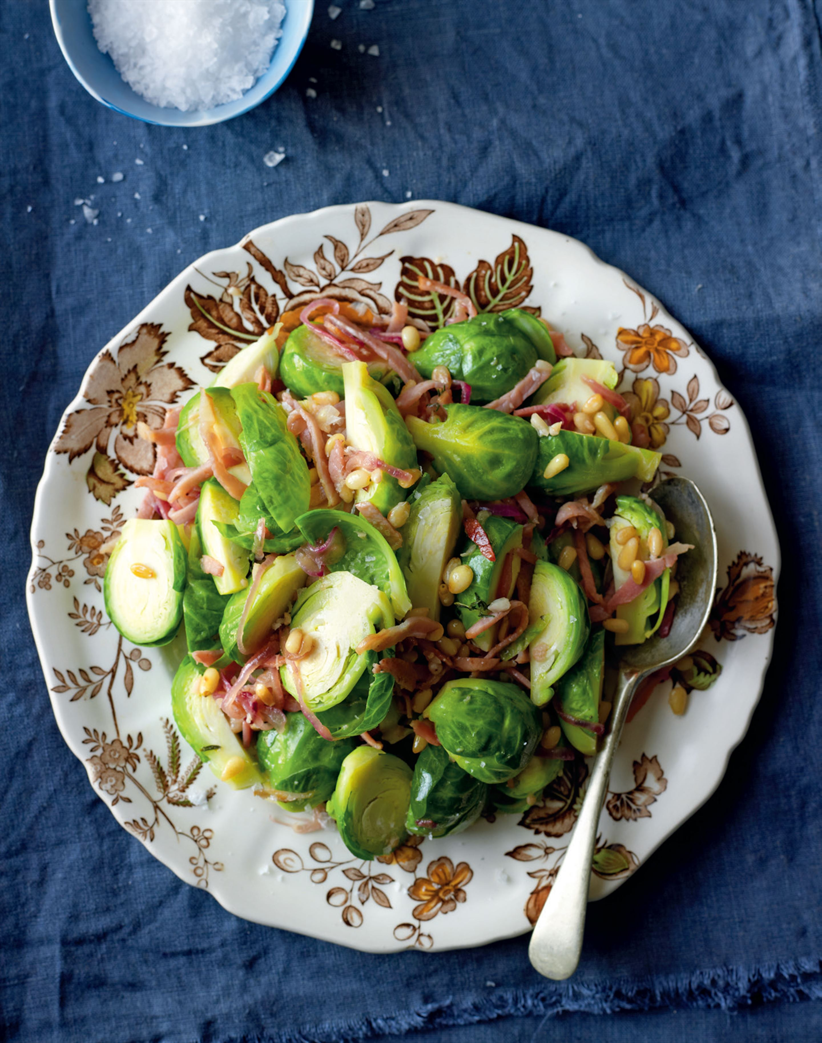 Brussels sprouts with pine nuts and bacon