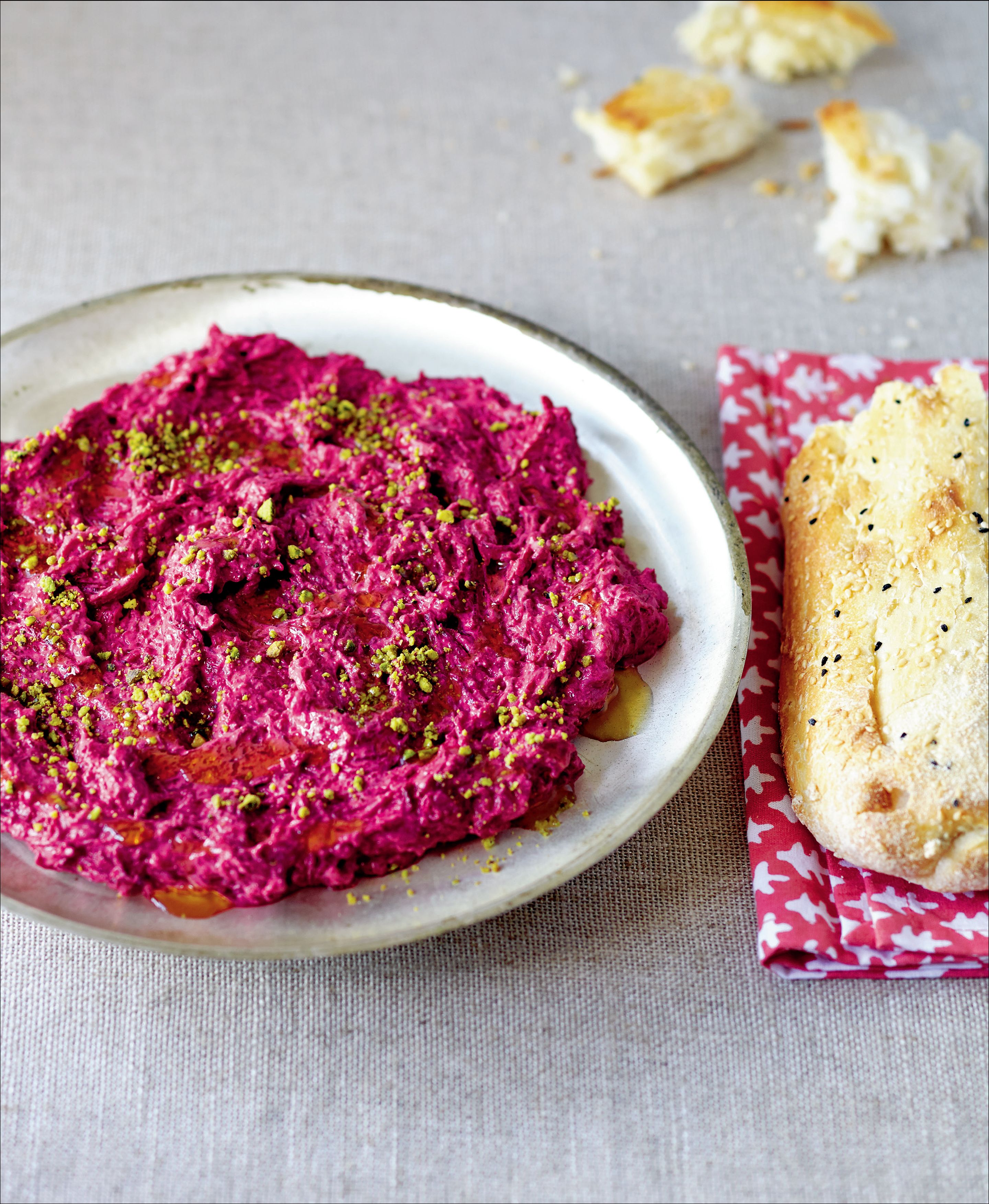 Roasted beetroot & pistachio dip