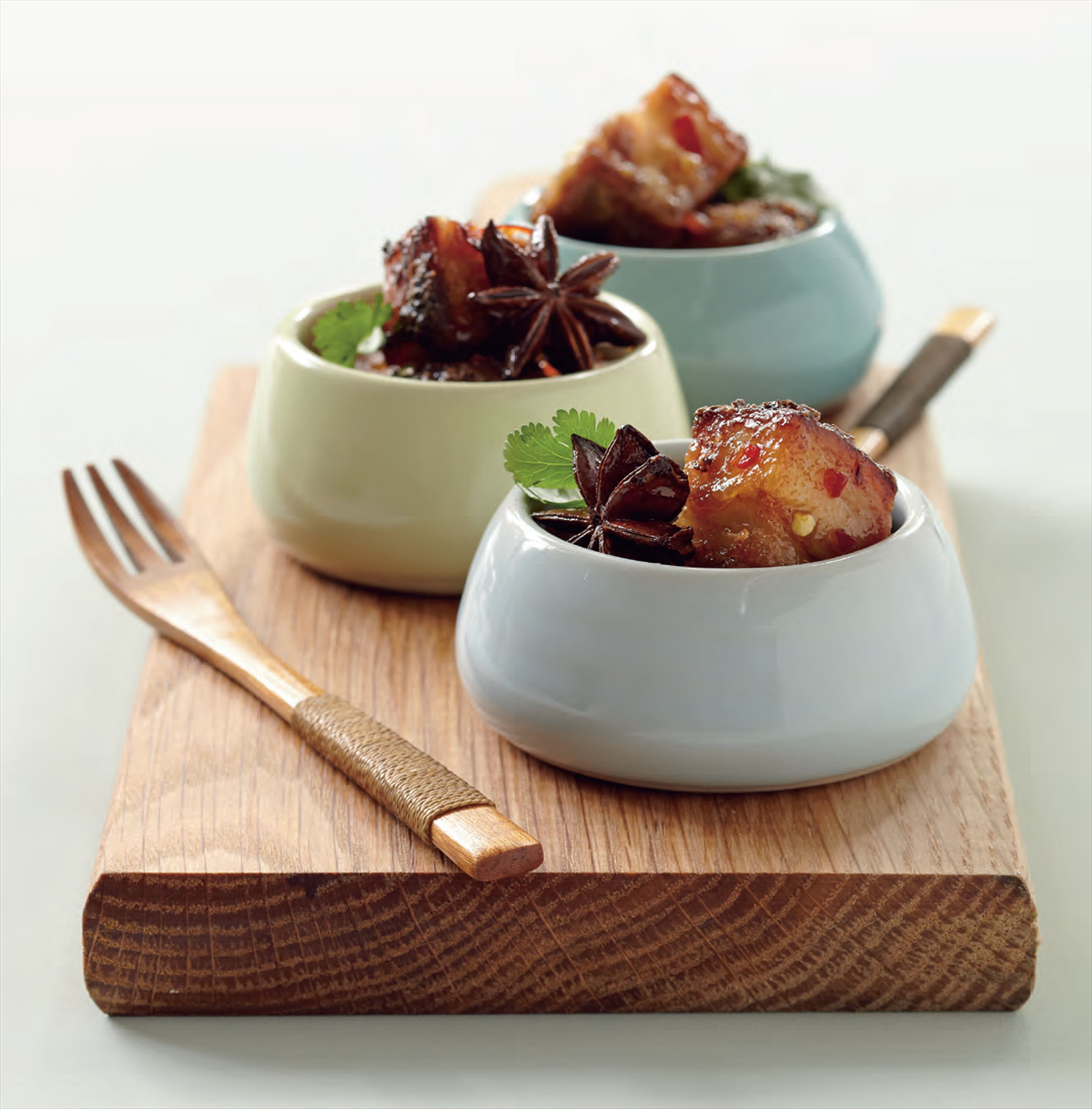 Crisp pork belly with chilli caramel