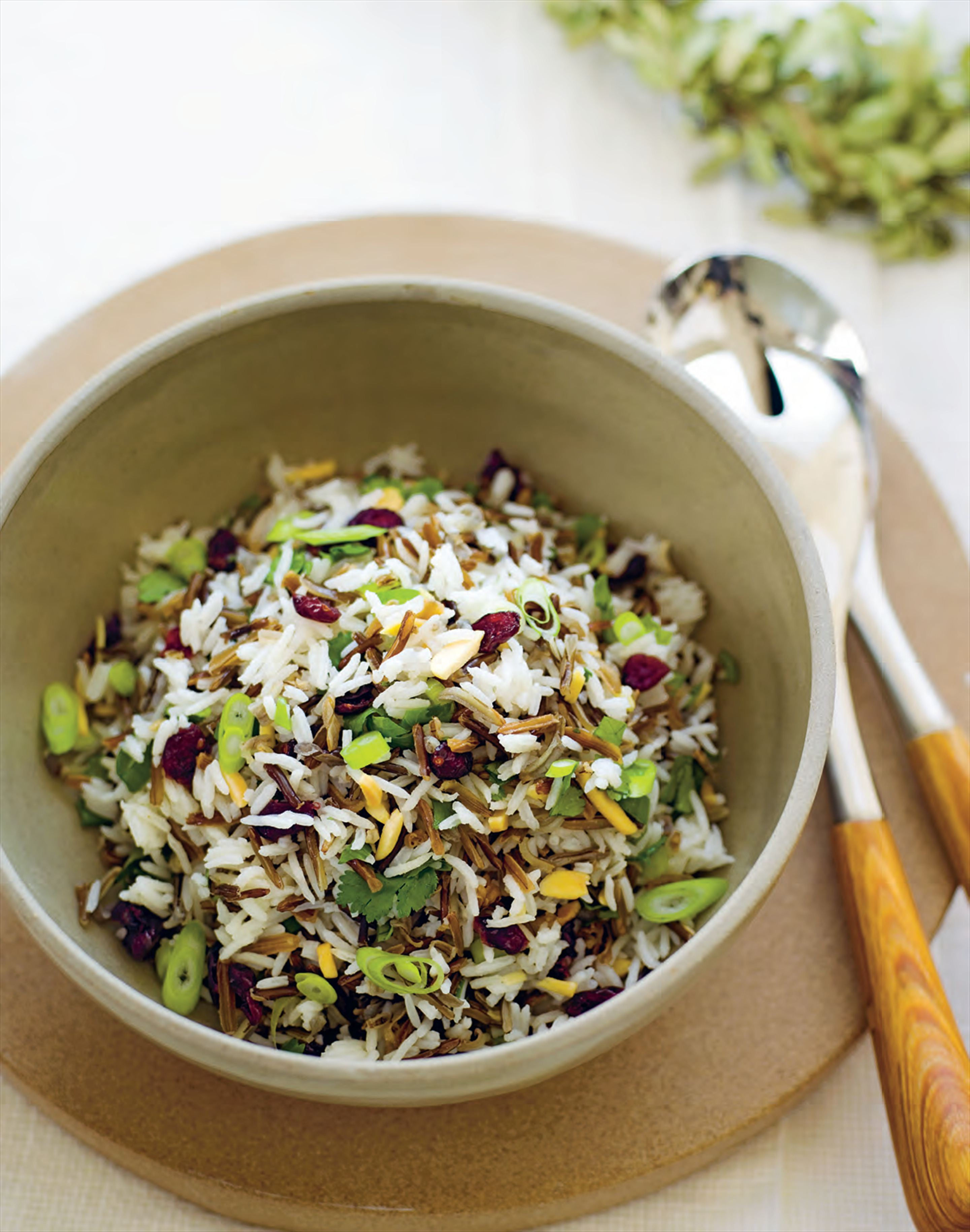 Crunchy cranberry and rice salad