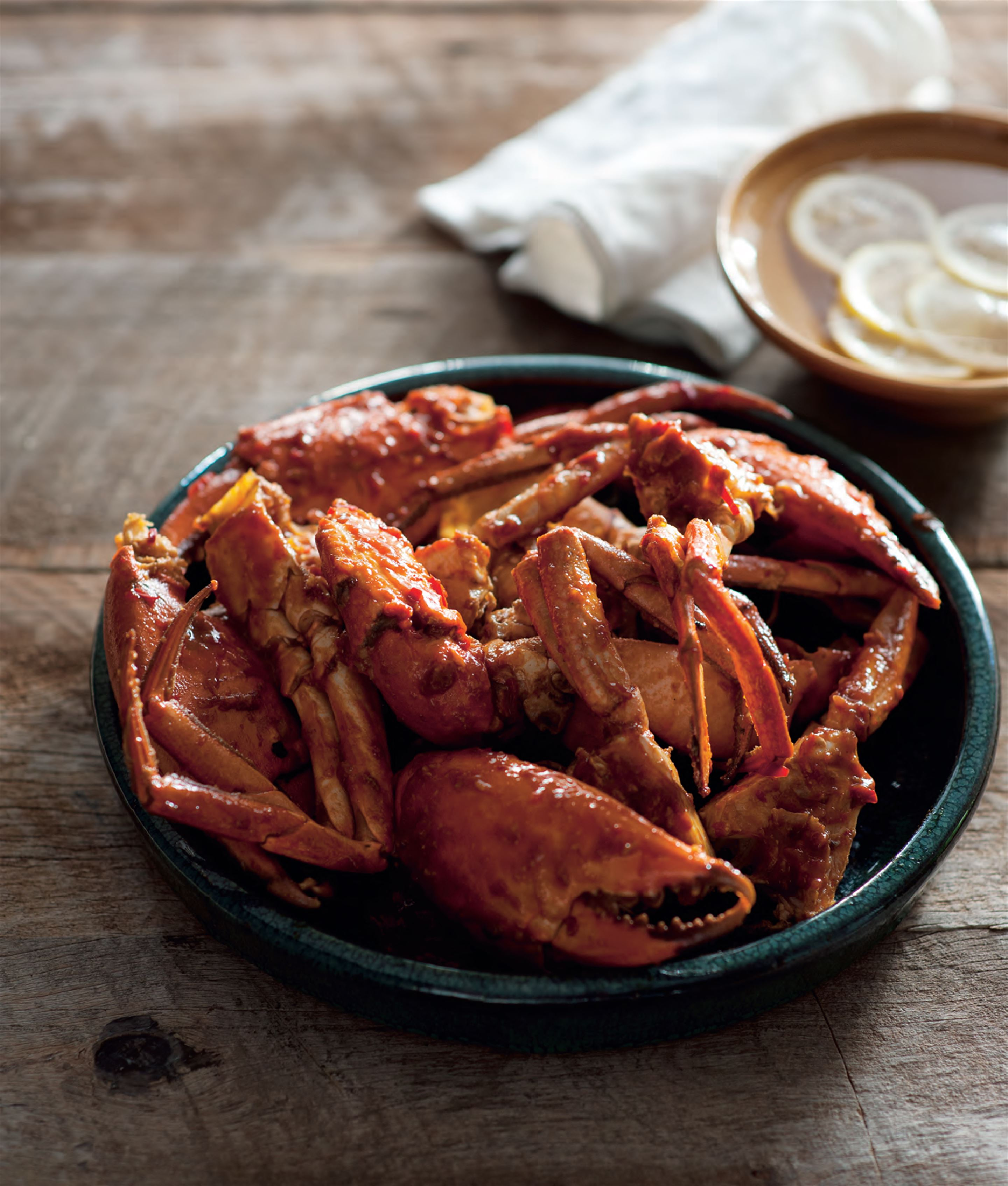 Fried chilli crabs