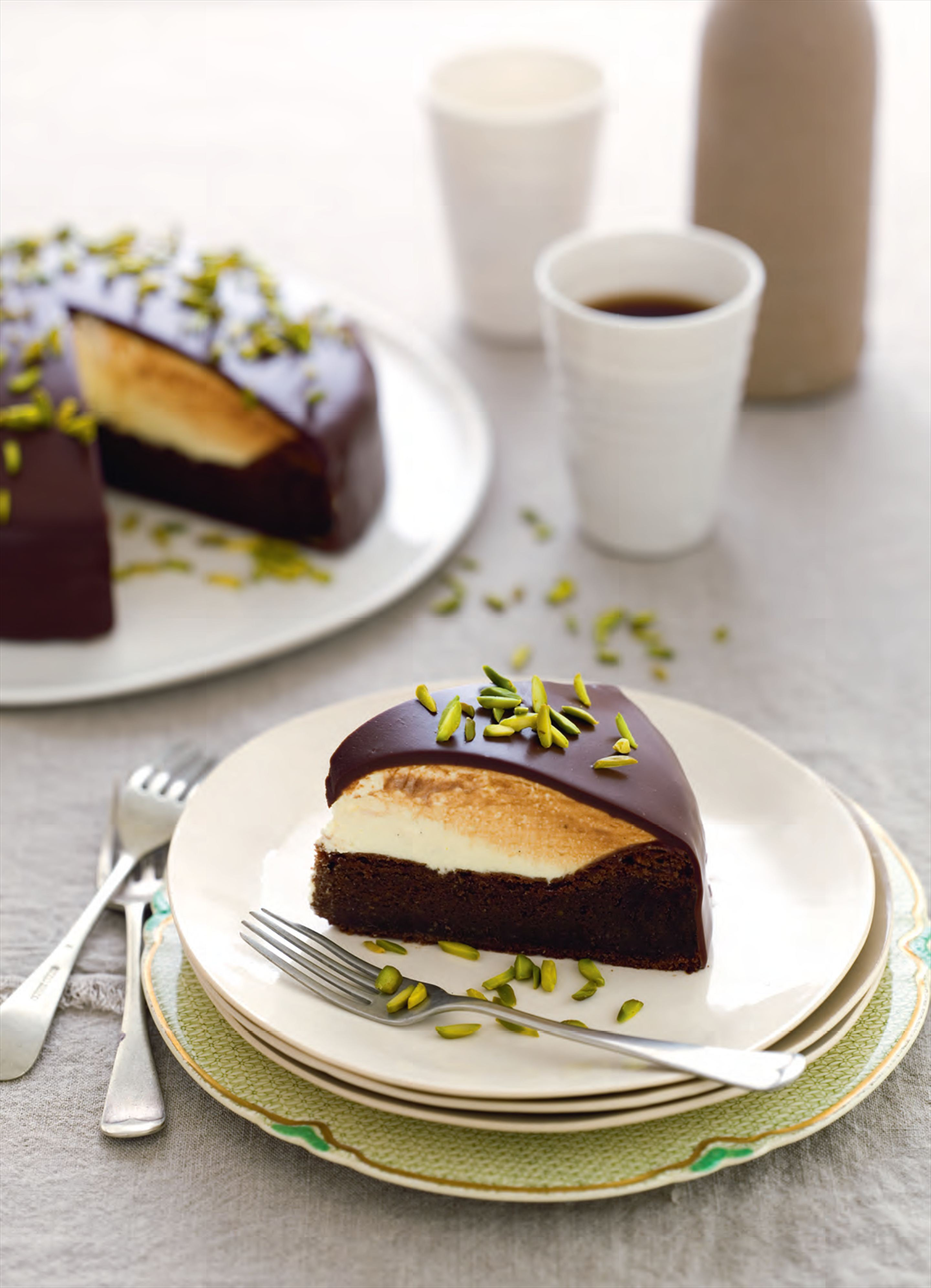 Chocolate pistachio cake