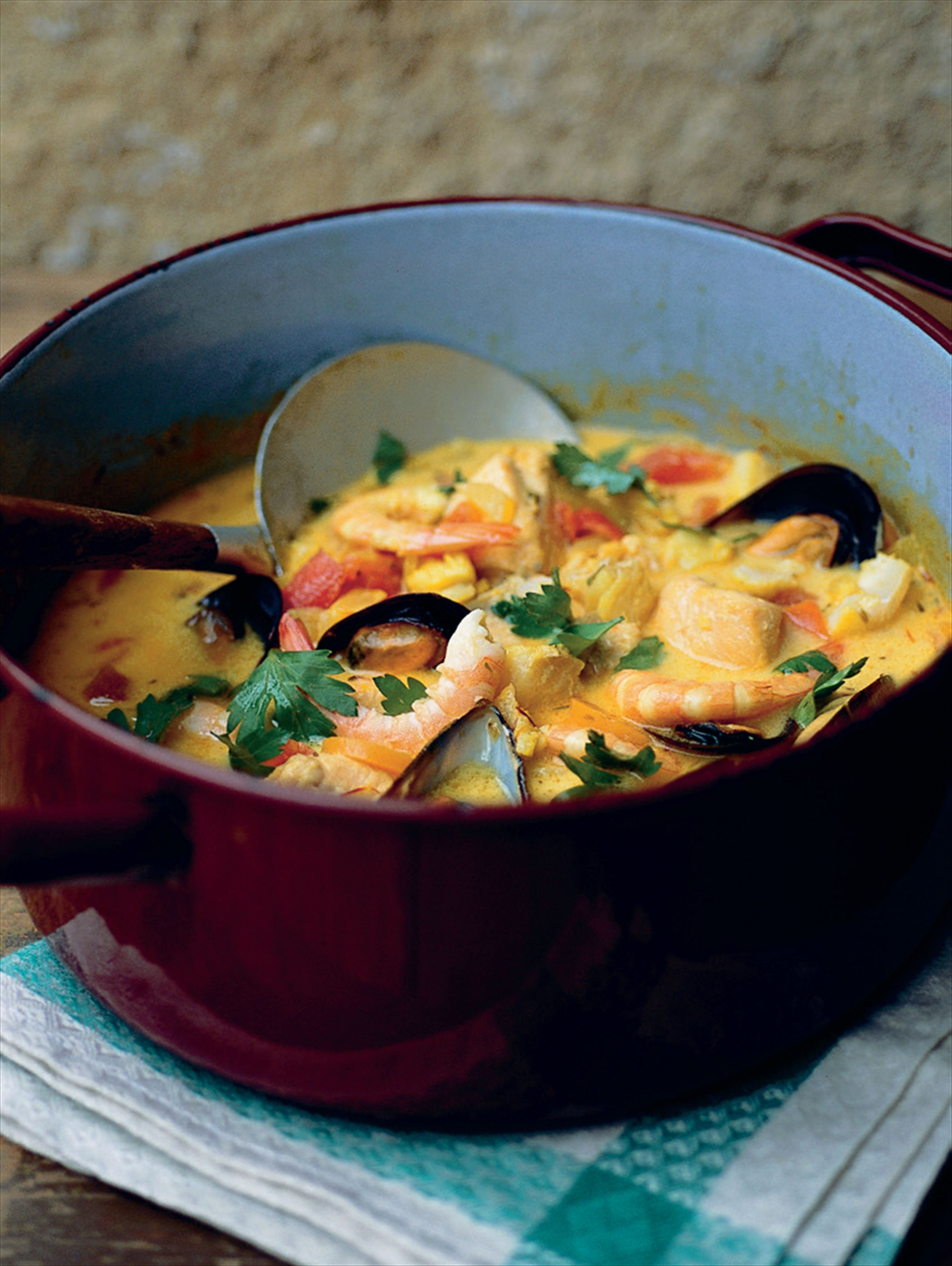 A hearty fish soup