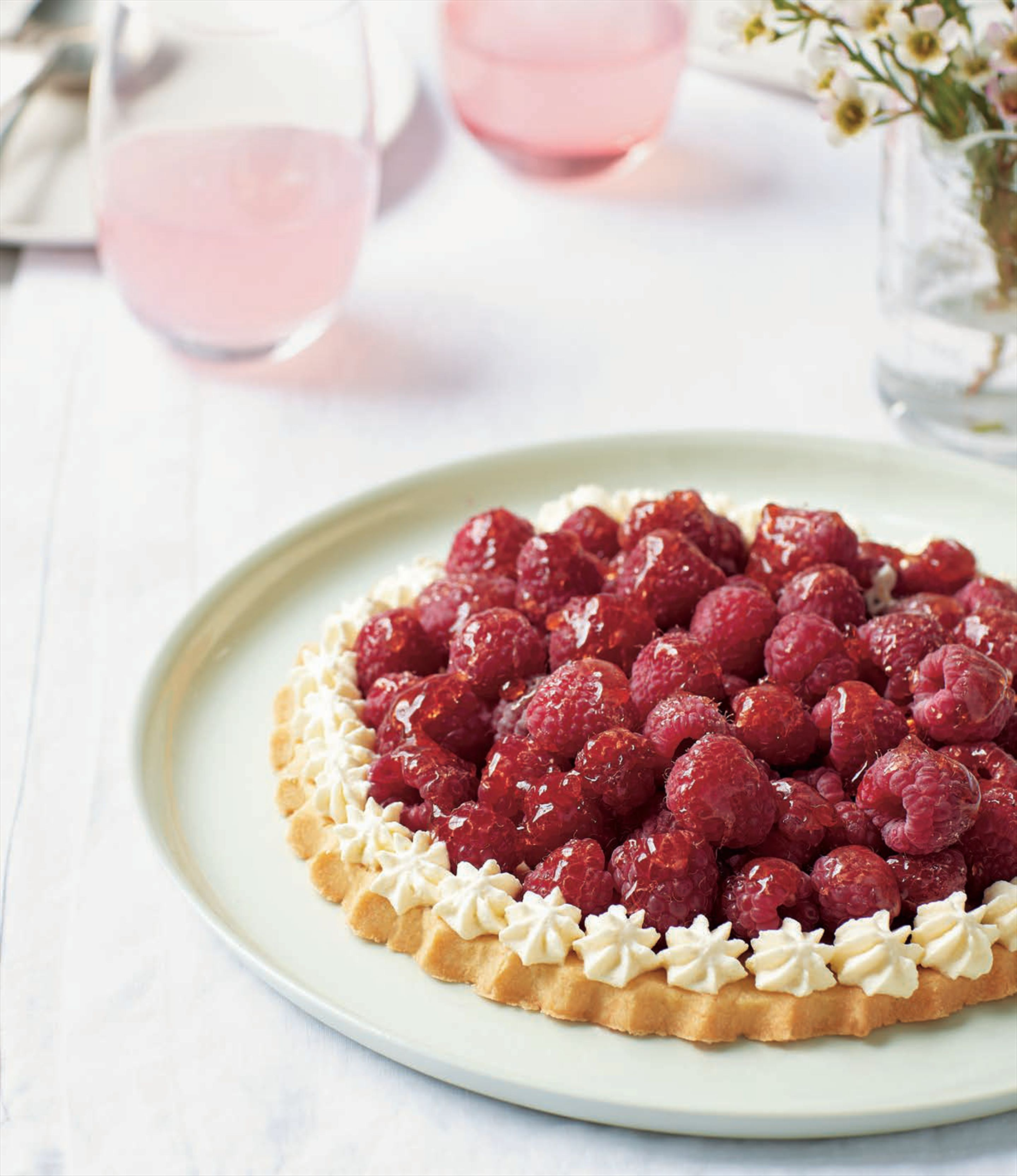 Danish raspberry shortcake