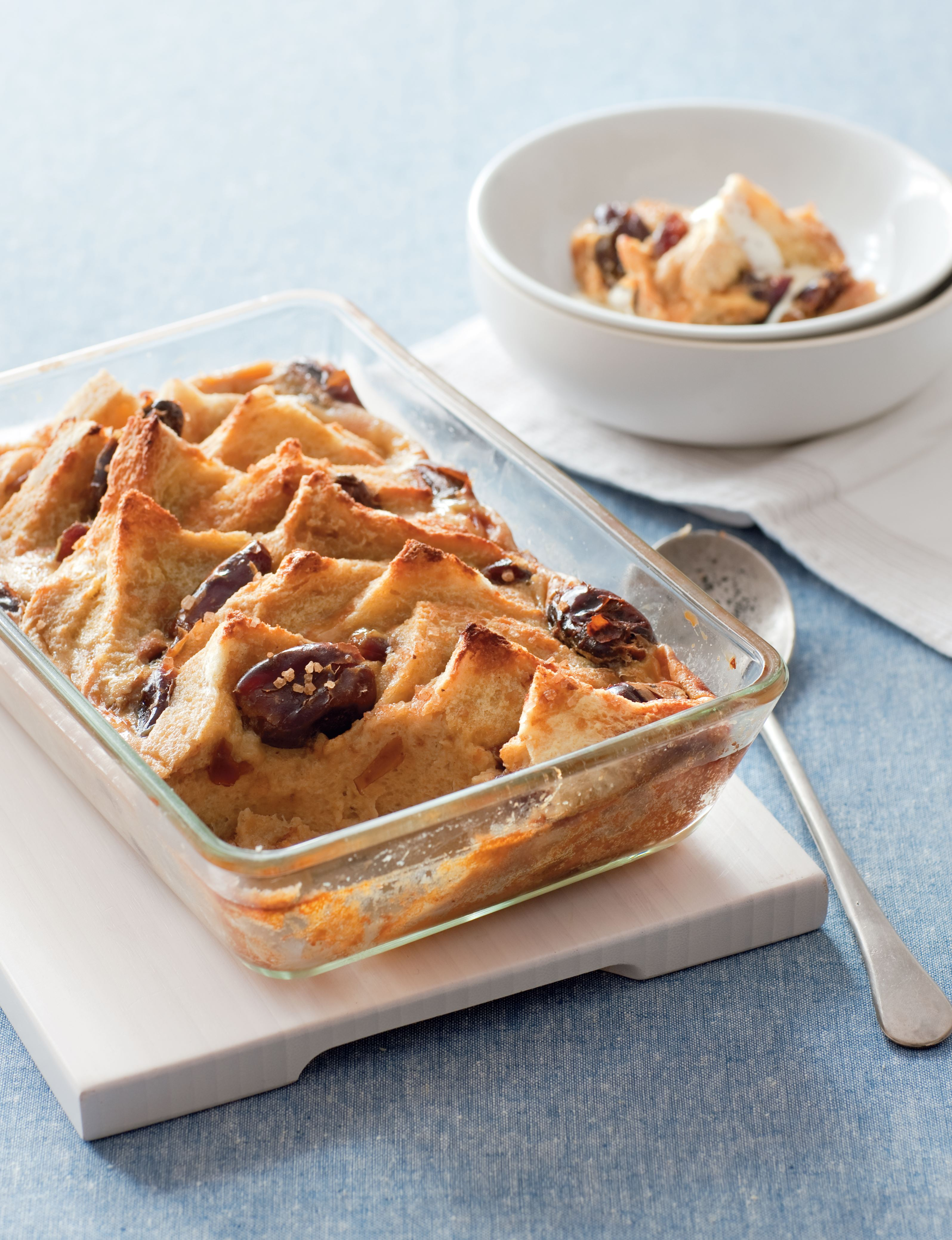 Chai-spiced bread and butter pudding
