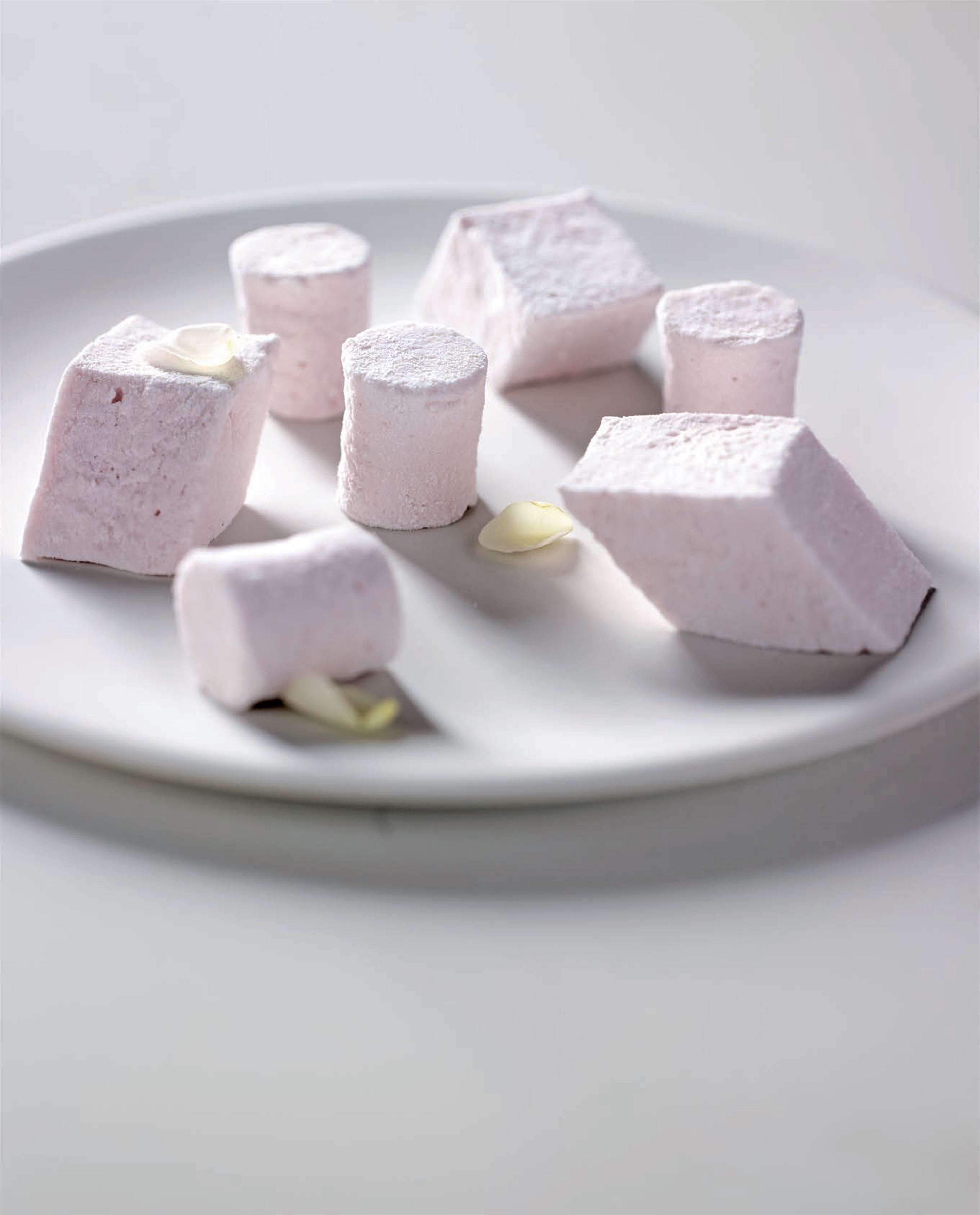 Strawberry–rose marshmallows