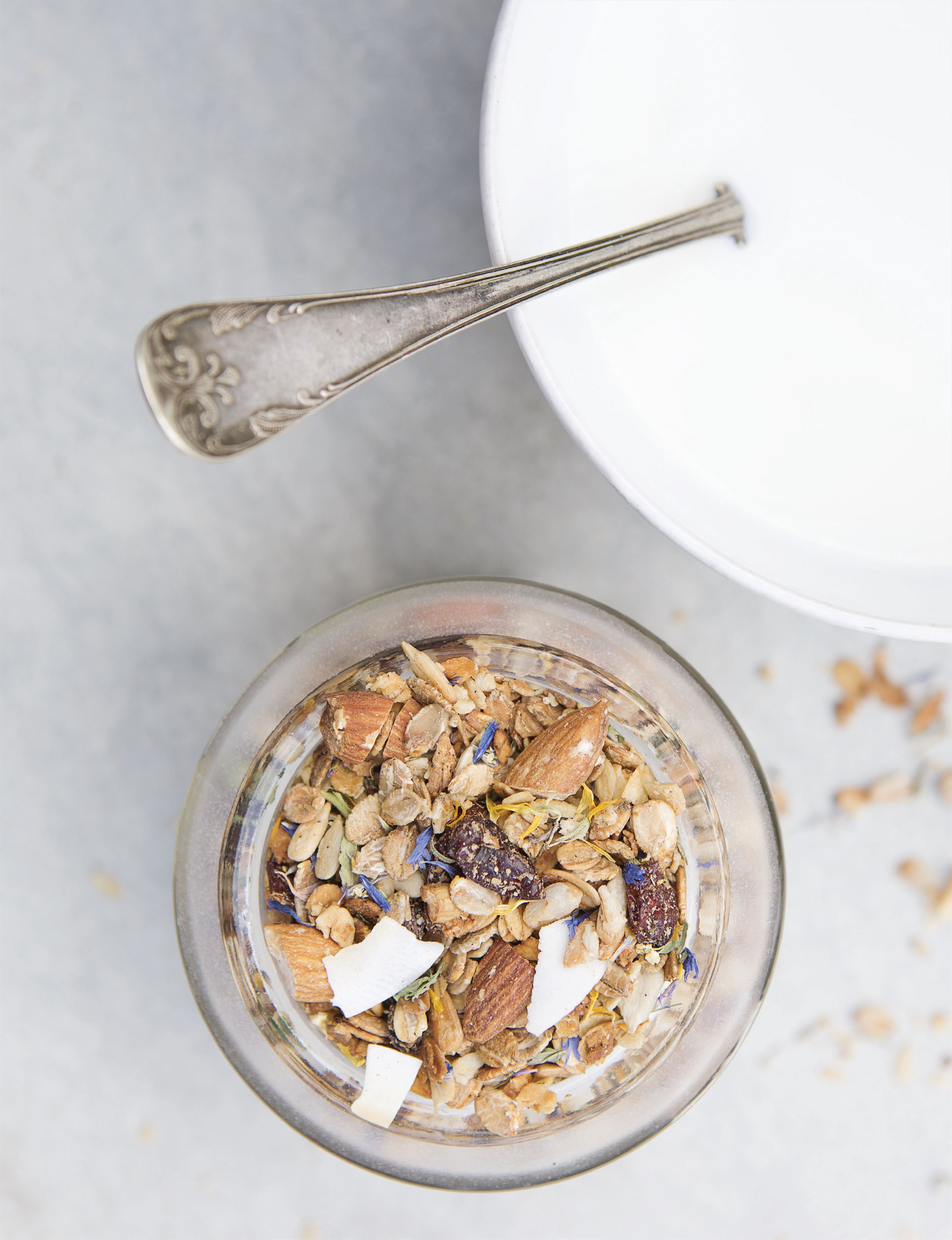 Flowered granola