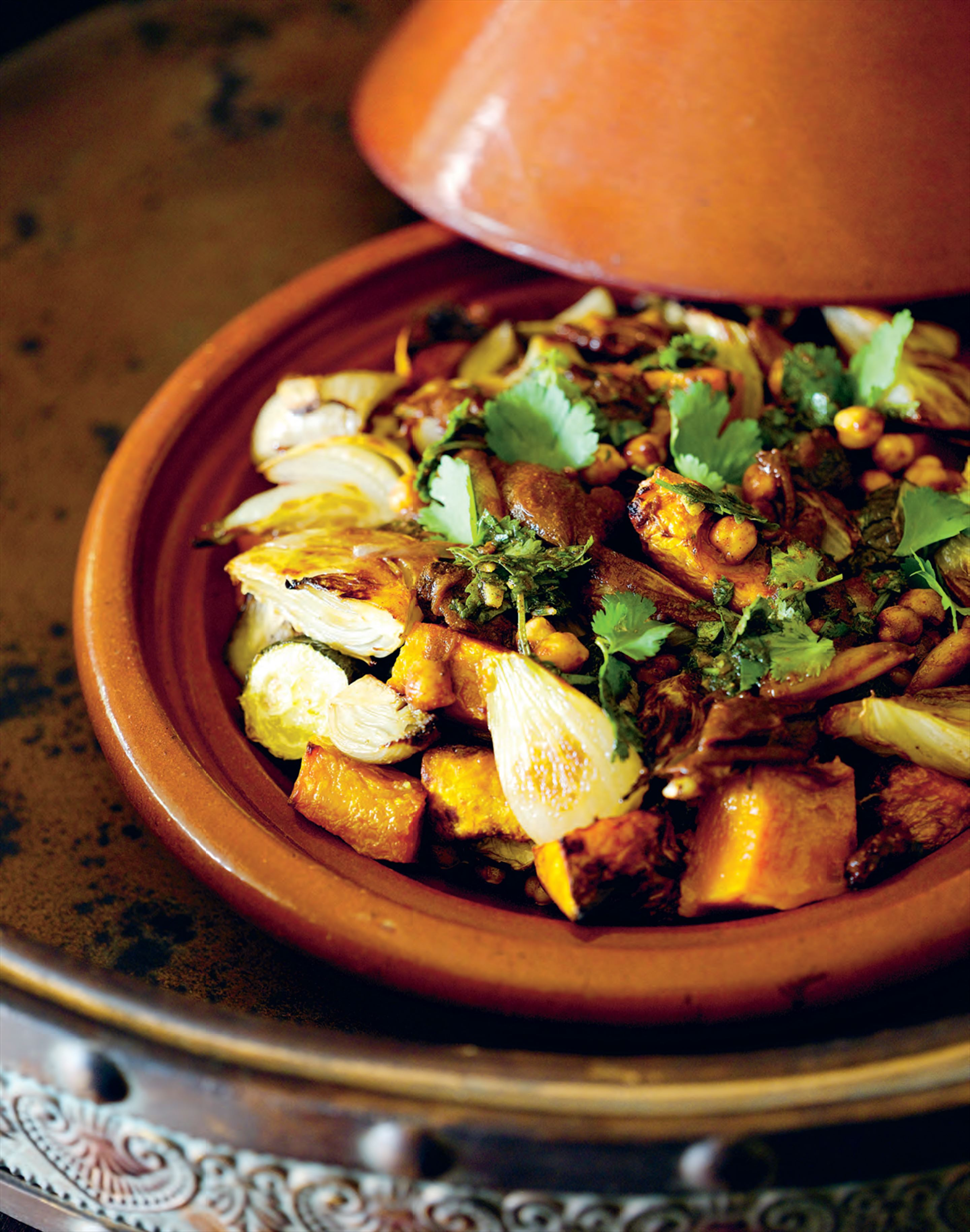 Fennel, pumpkin and eggplant tagine