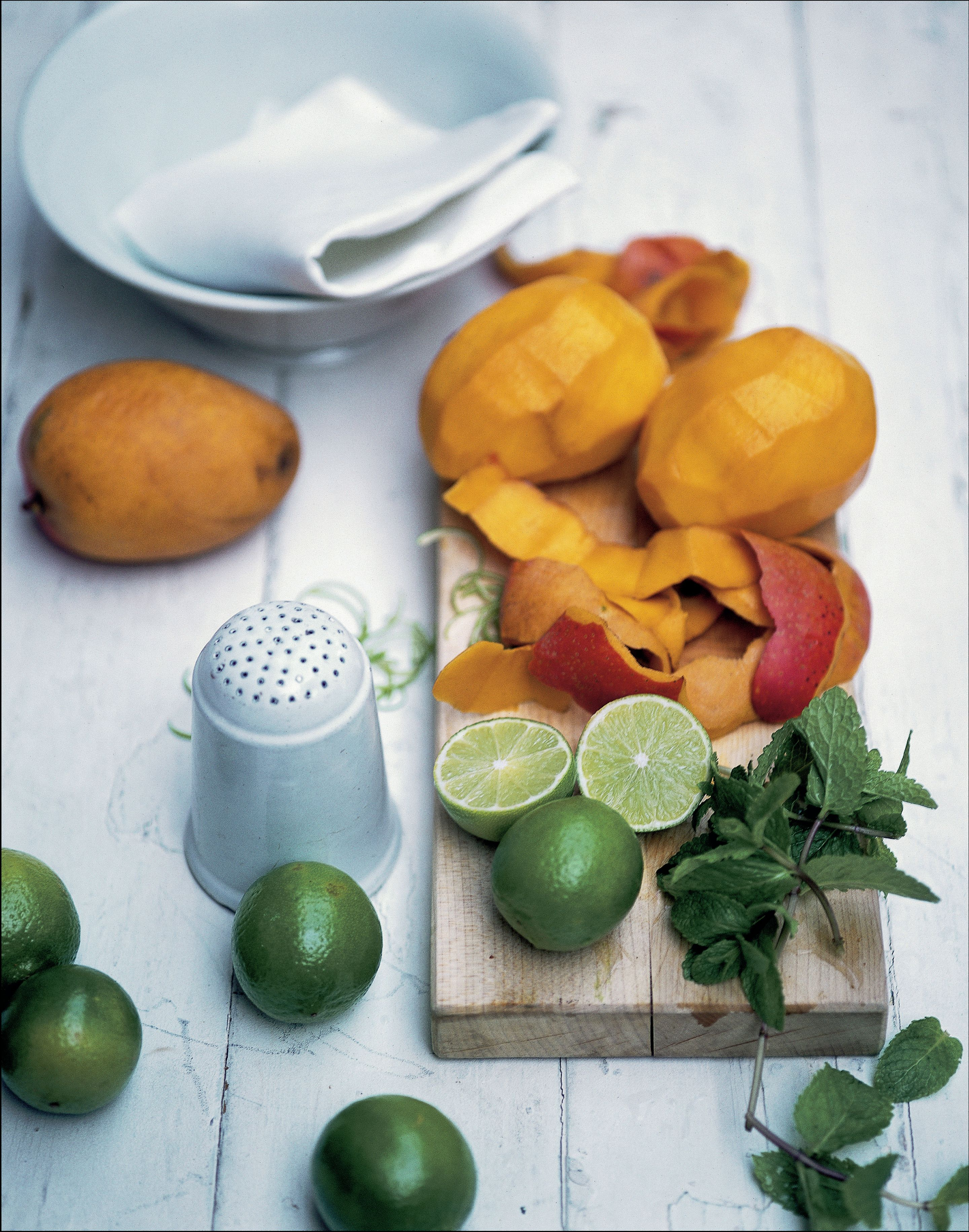 Mango with lime syrup